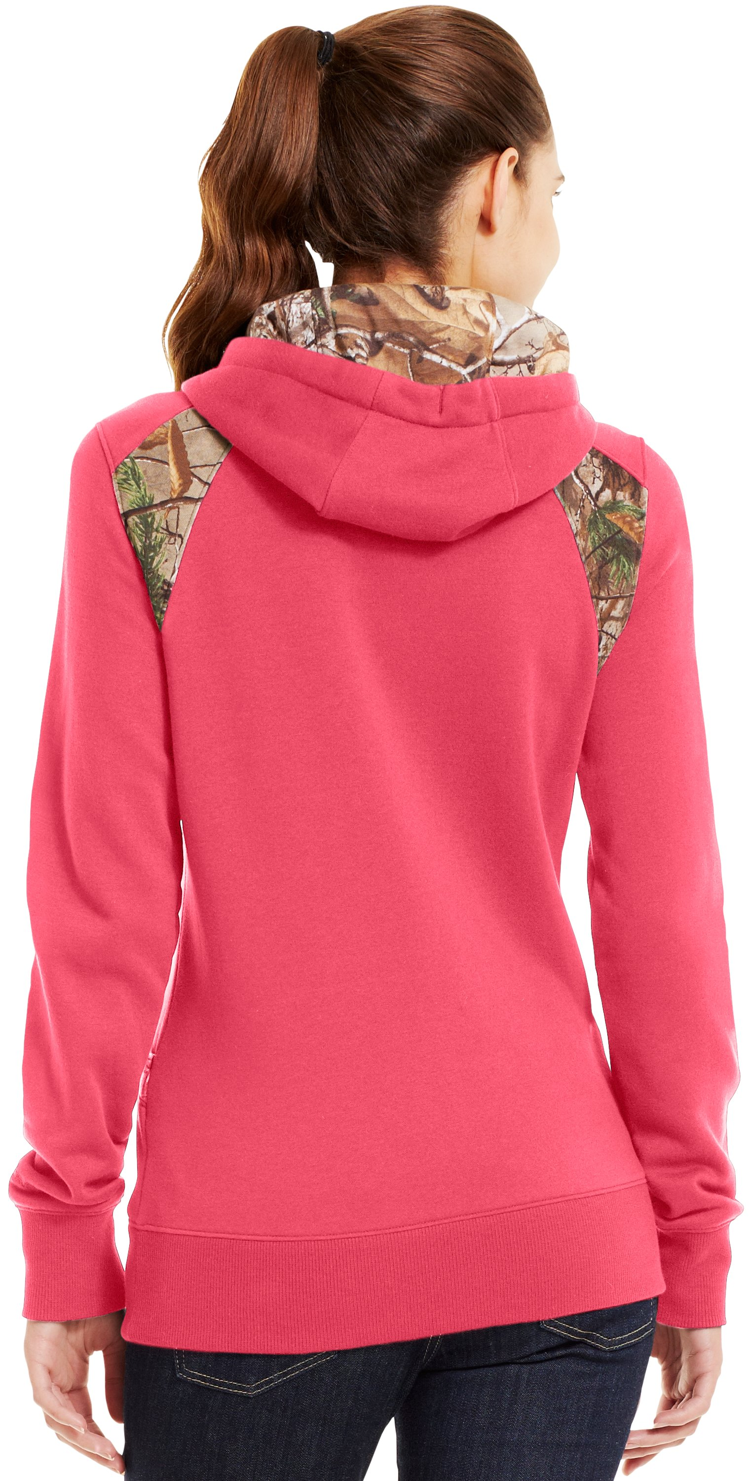 Women's UA Charged Cotton® Storm Full Zip Hoodie, Perfection, Back