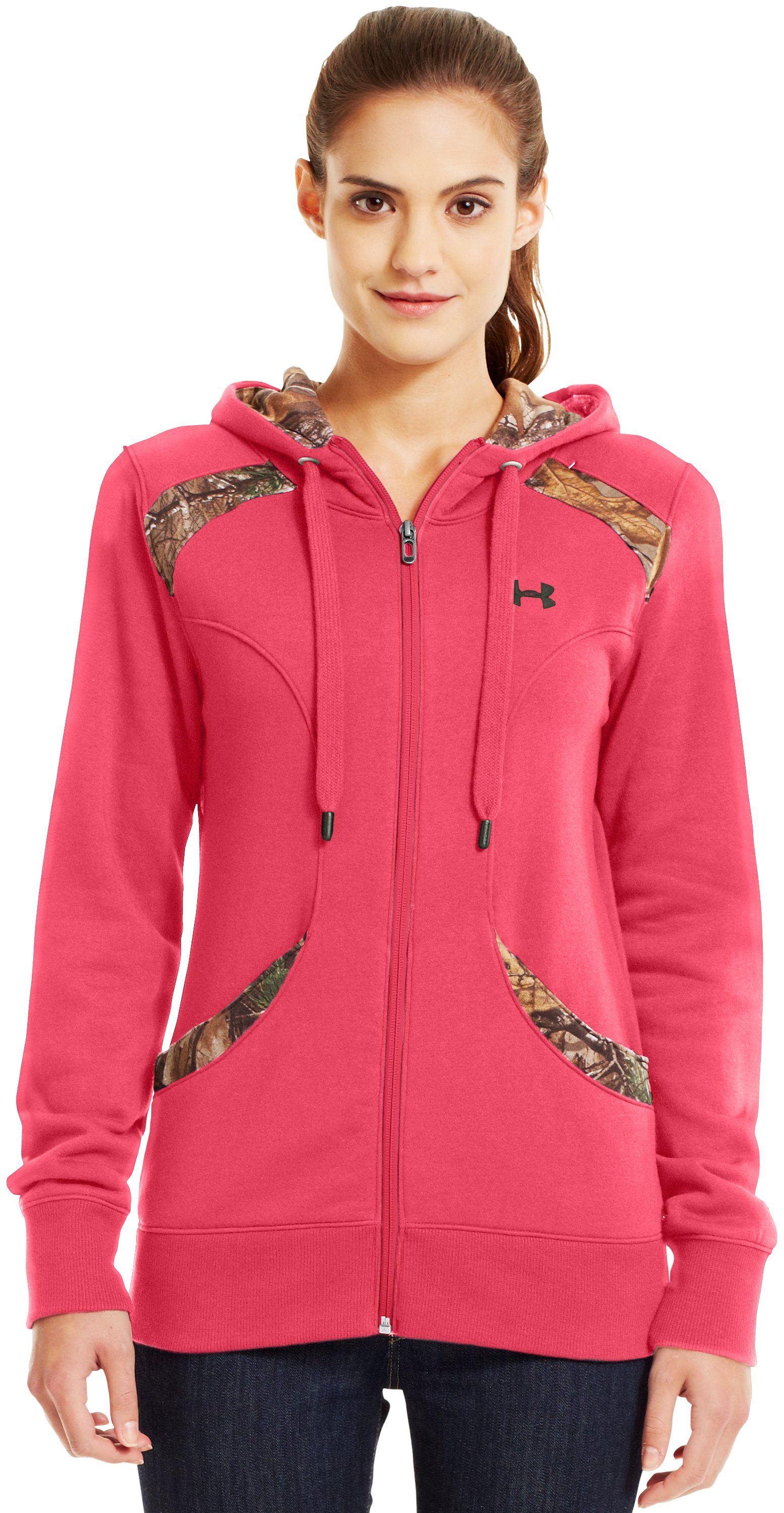 Women's UA Charged Cotton® Storm Full Zip Hoodie, Perfection, Front