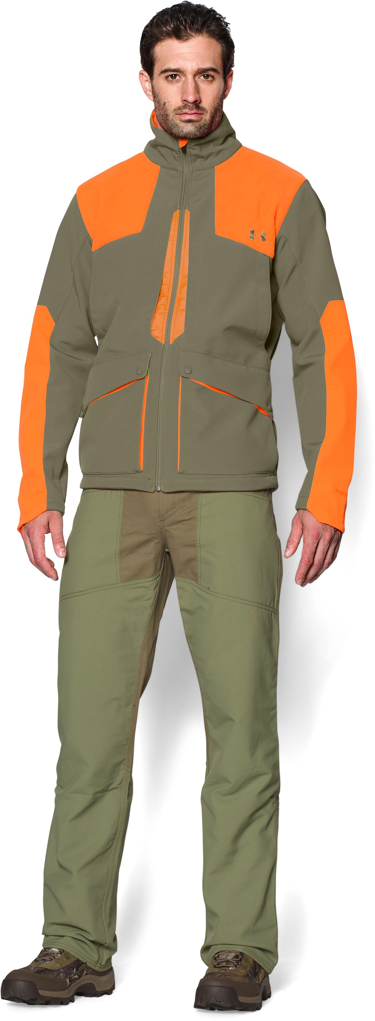 Men's UA Storm Prey Field General Jacket, THYME, Front