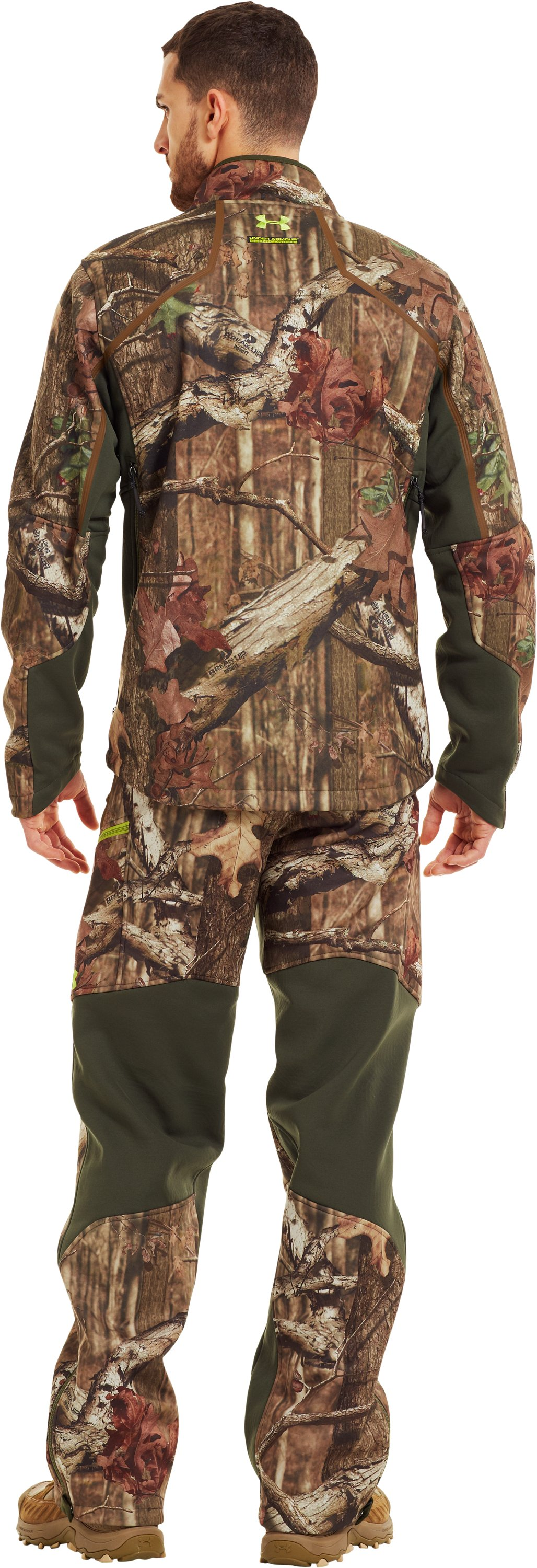 Men's ColdGear® Infrared Ridge Reaper® Softshell Jacket, Mossy Oak Break-Up Infinity, Back