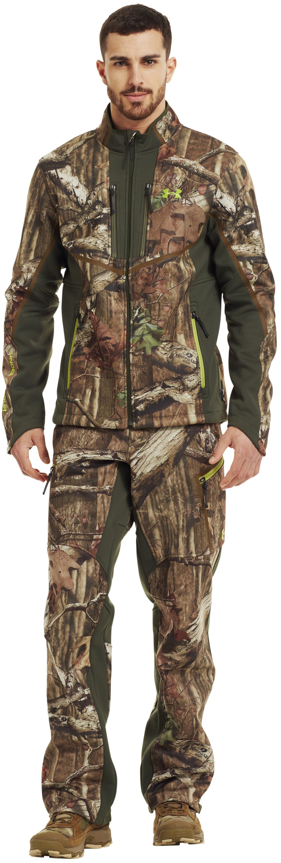 Men's ColdGear® Infrared Ridge Reaper® Softshell Jacket, Mossy Oak Break-Up Infinity, Front