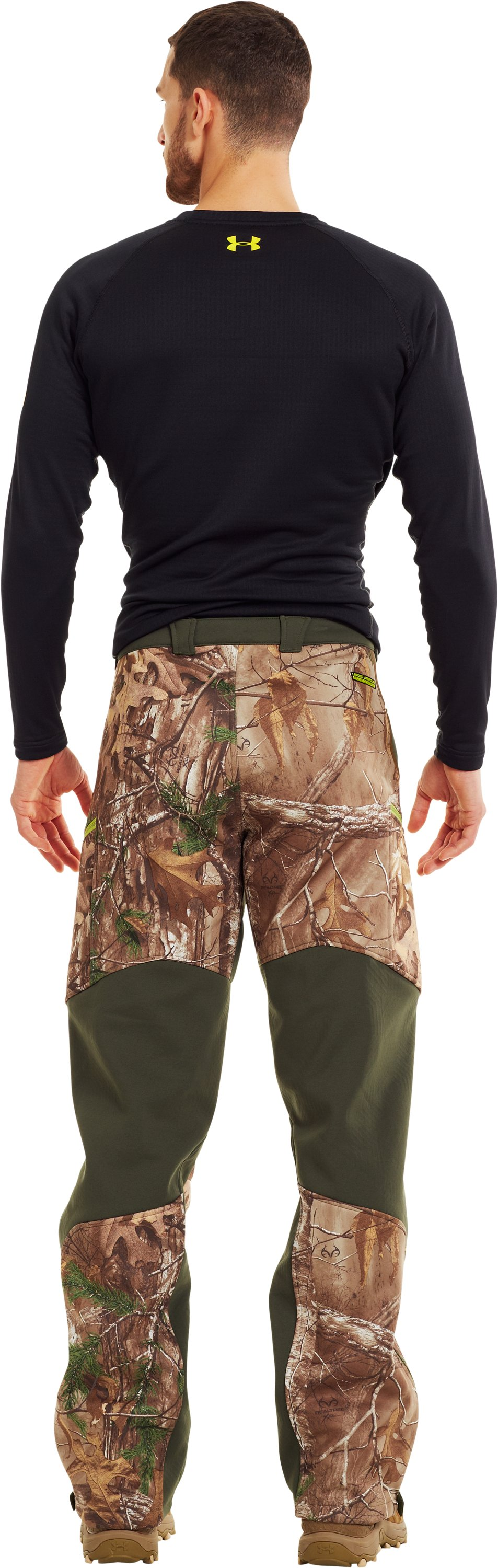 Men's ColdGear® Infrared Ridge Reaper® Softshell Pants, Mossy Oak Break-Up Infinity, Back