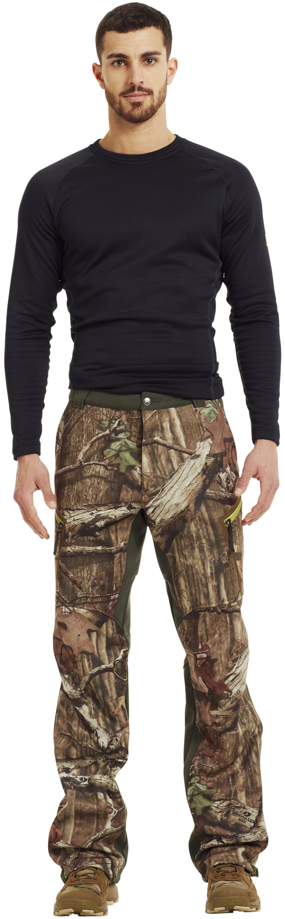 Men's ColdGear® Infrared Ridge Reaper® Softshell Pants, Mossy Oak Break-Up Infinity, Front