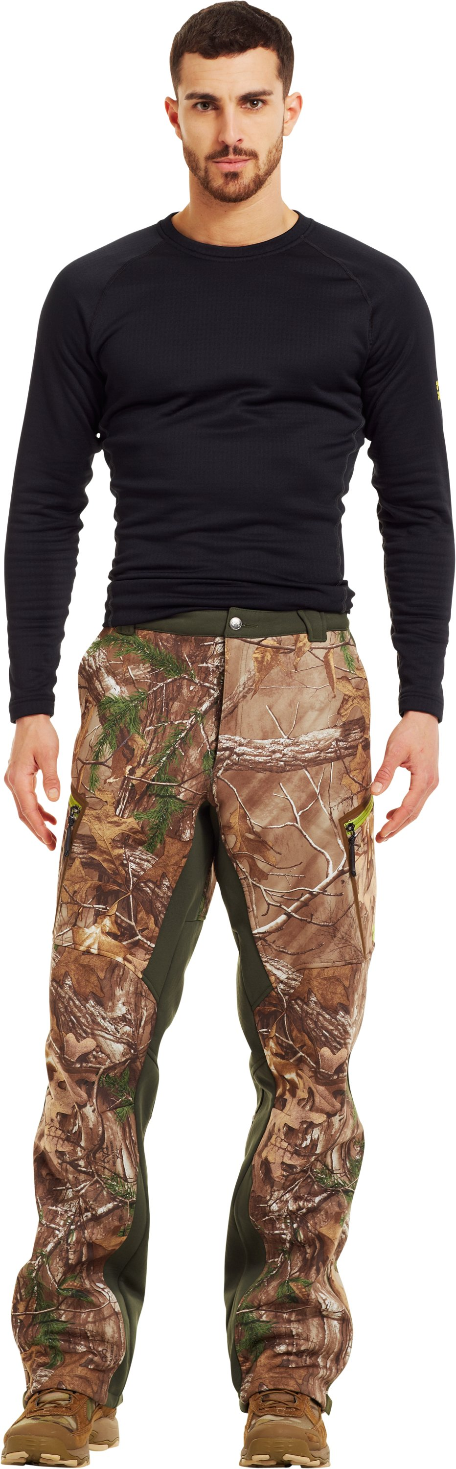 Men's ColdGear® Infrared Ridge Reaper® Softshell Pants, REALTREE AP-XTRA, zoomed image