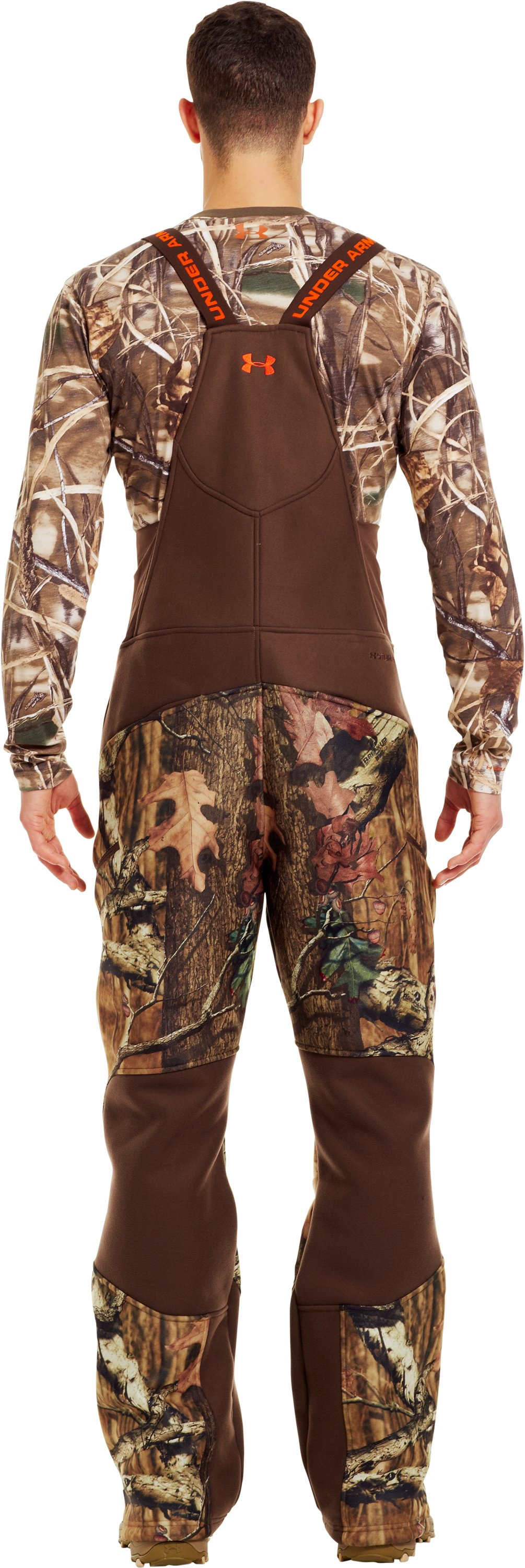 Men's UA Storm Ayton Bib, Mossy Oak Break-Up Infinity, Back