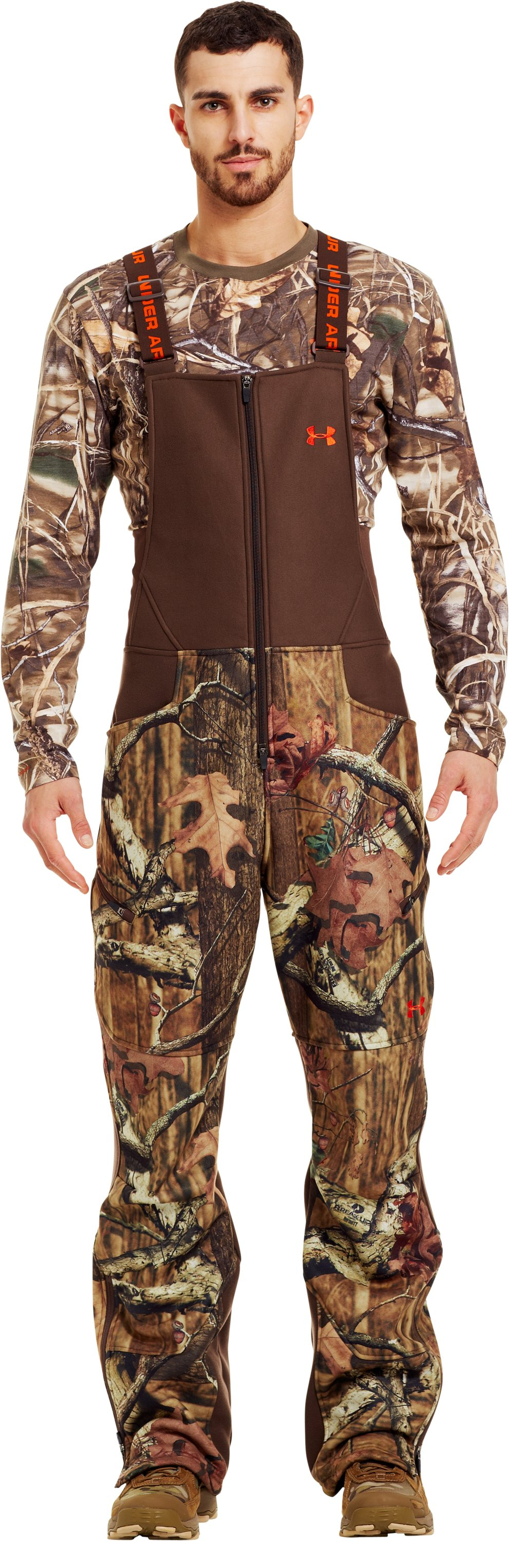 Men's UA Storm Ayton Bib, Mossy Oak Break-Up Infinity, Front