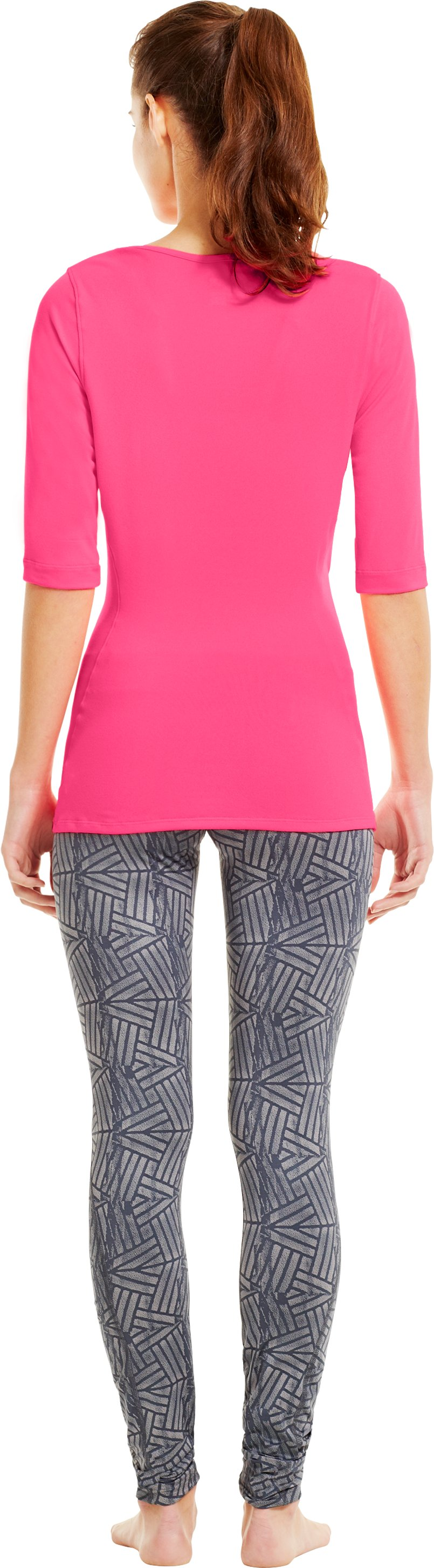 Women's UA PIP® Touch ¾ Tee, Cerise, Back