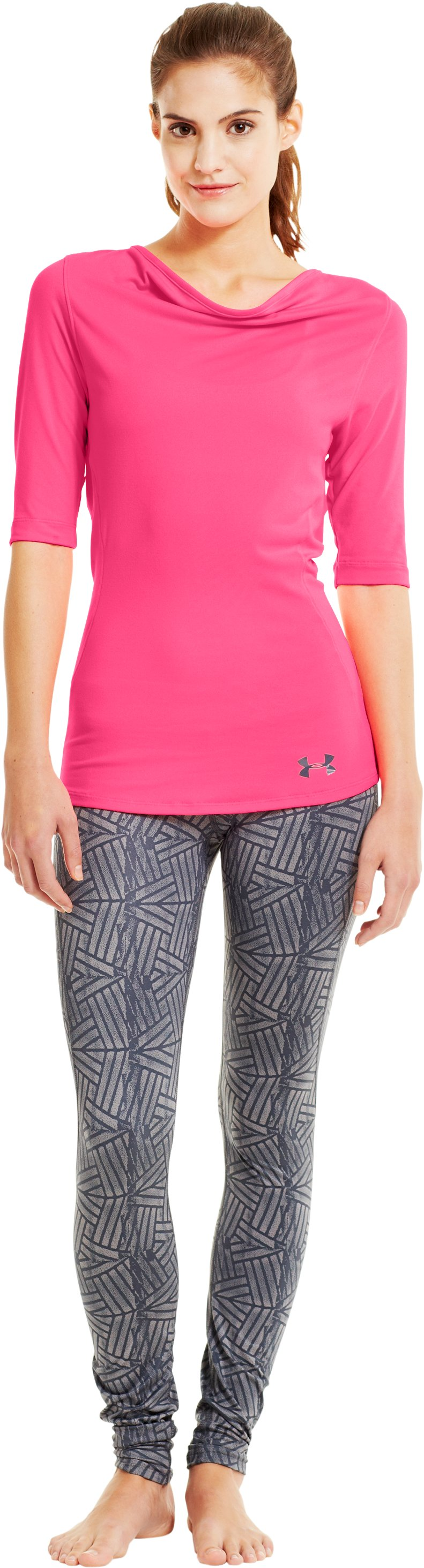 Women's UA PIP® Touch ¾ Tee, Cerise, Front