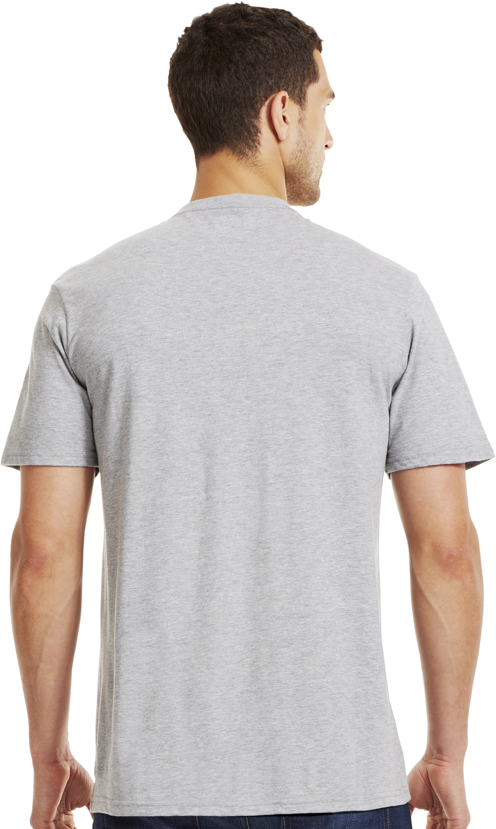 Men's UA Whitetail T-Shirt, True Gray Heather, Back