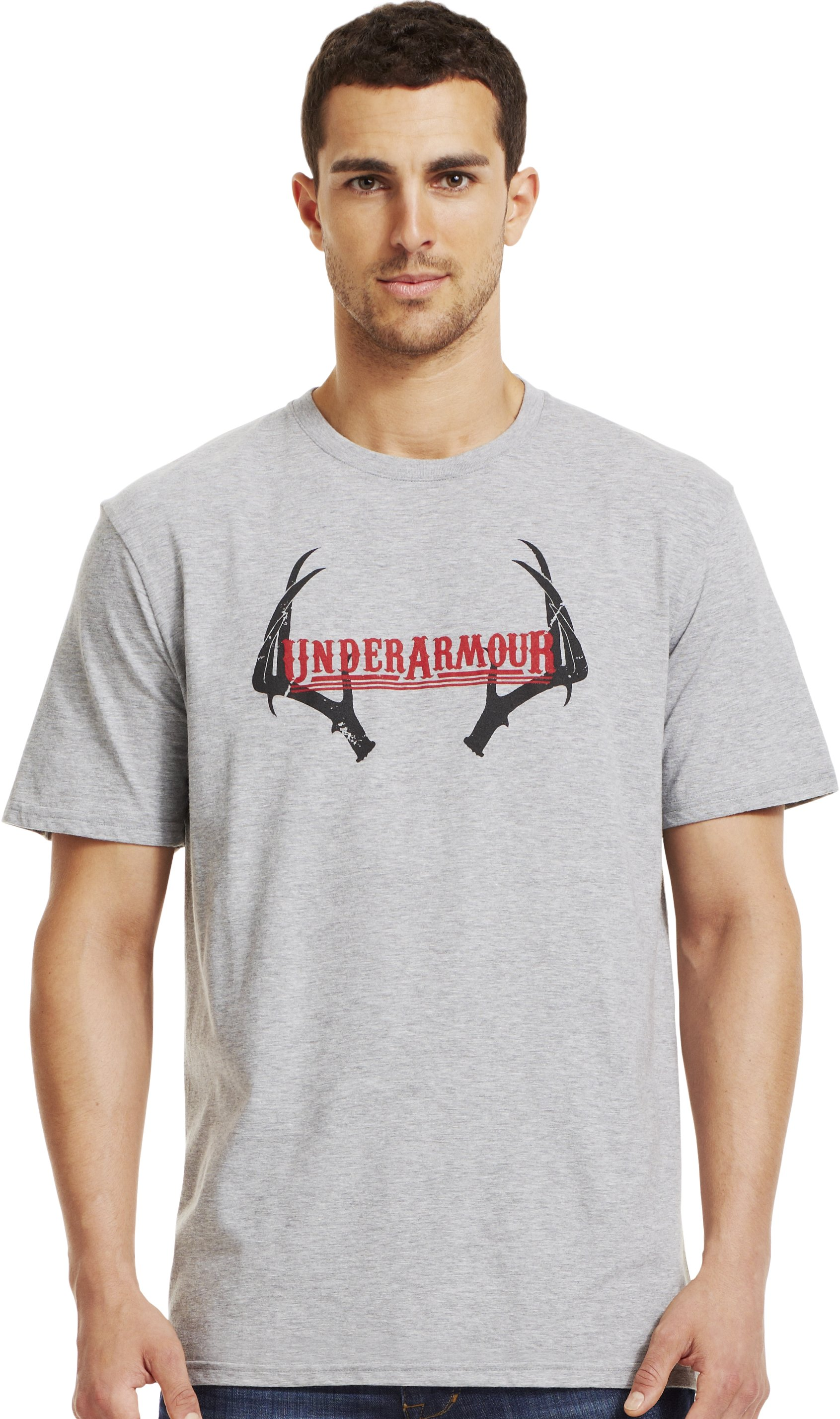 Men's UA Whitetail T-Shirt, True Gray Heather, Front