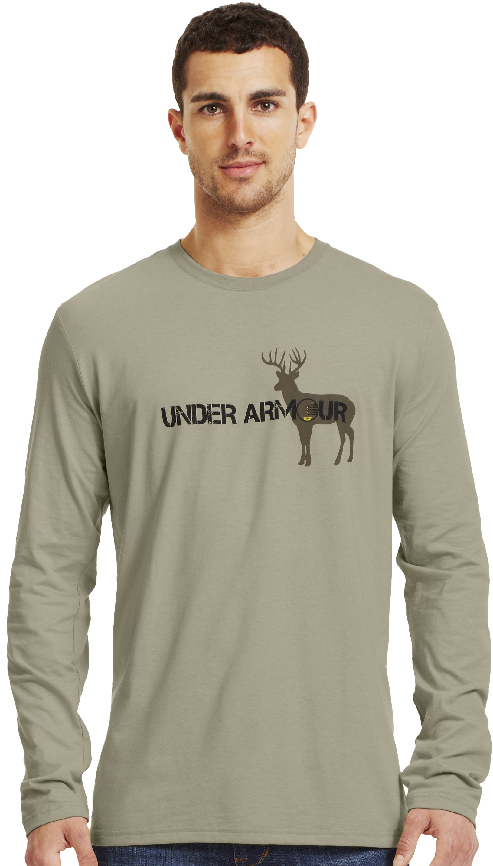 Men's UA Whitetail Crosshairs T-Shirt, TRAIL, Front