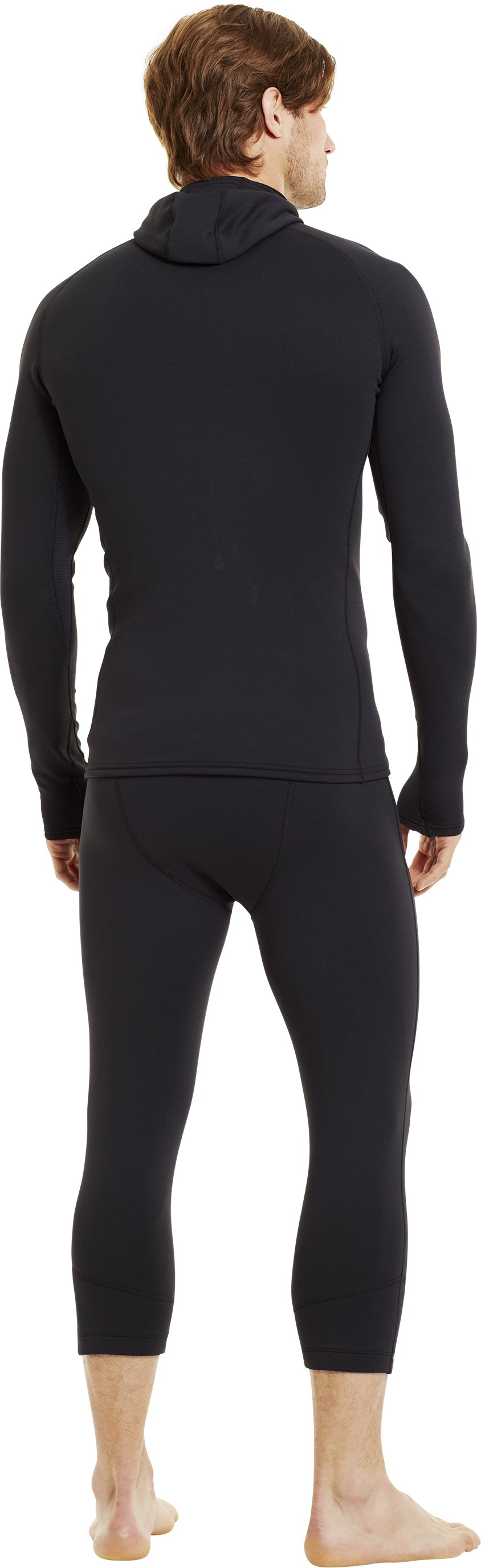 Men's Armour® Stretch ColdGear® Hoodie, Black , Back