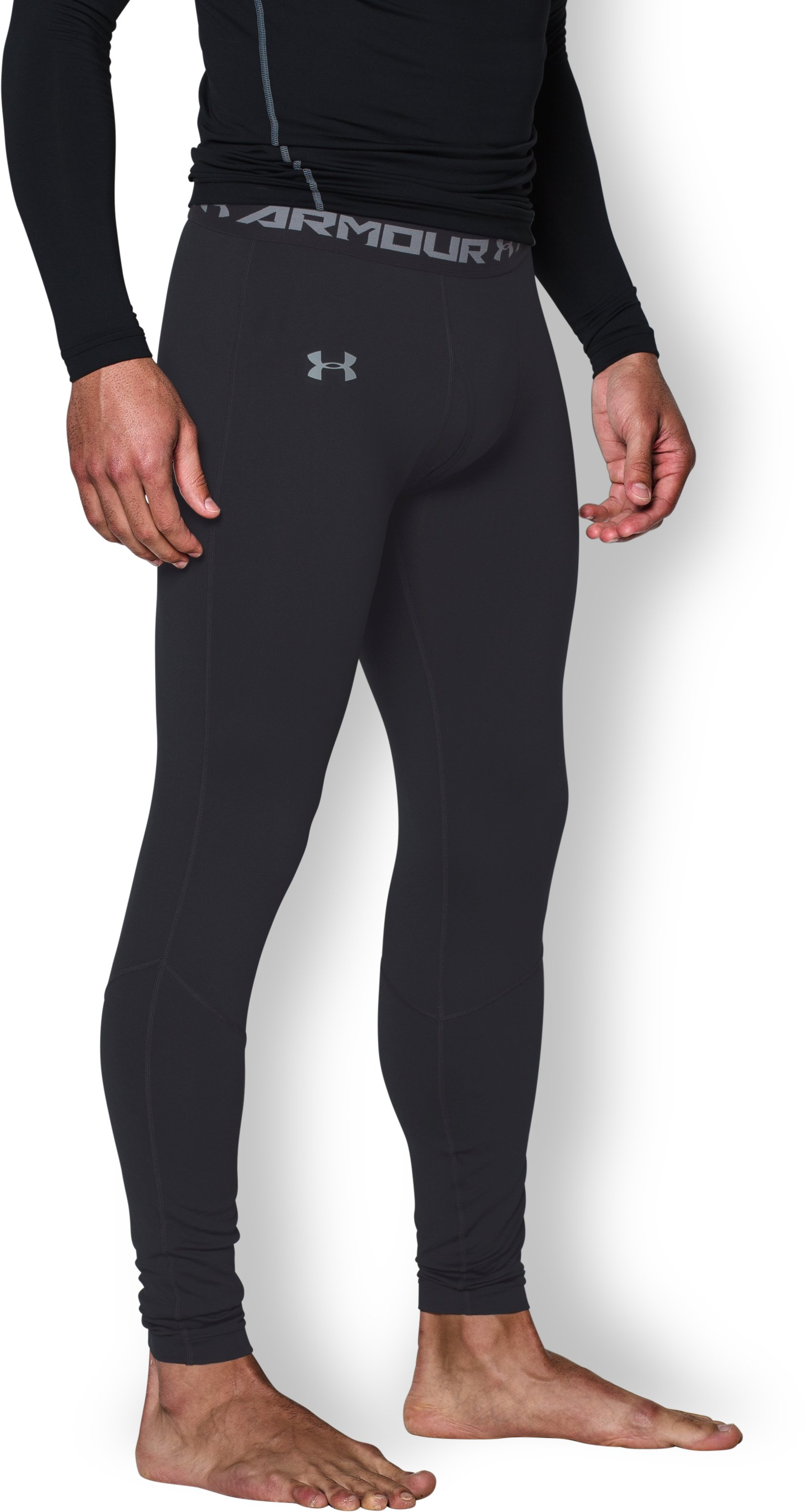 Men's UA ColdGear® Infrared Fitted Leggings, Black