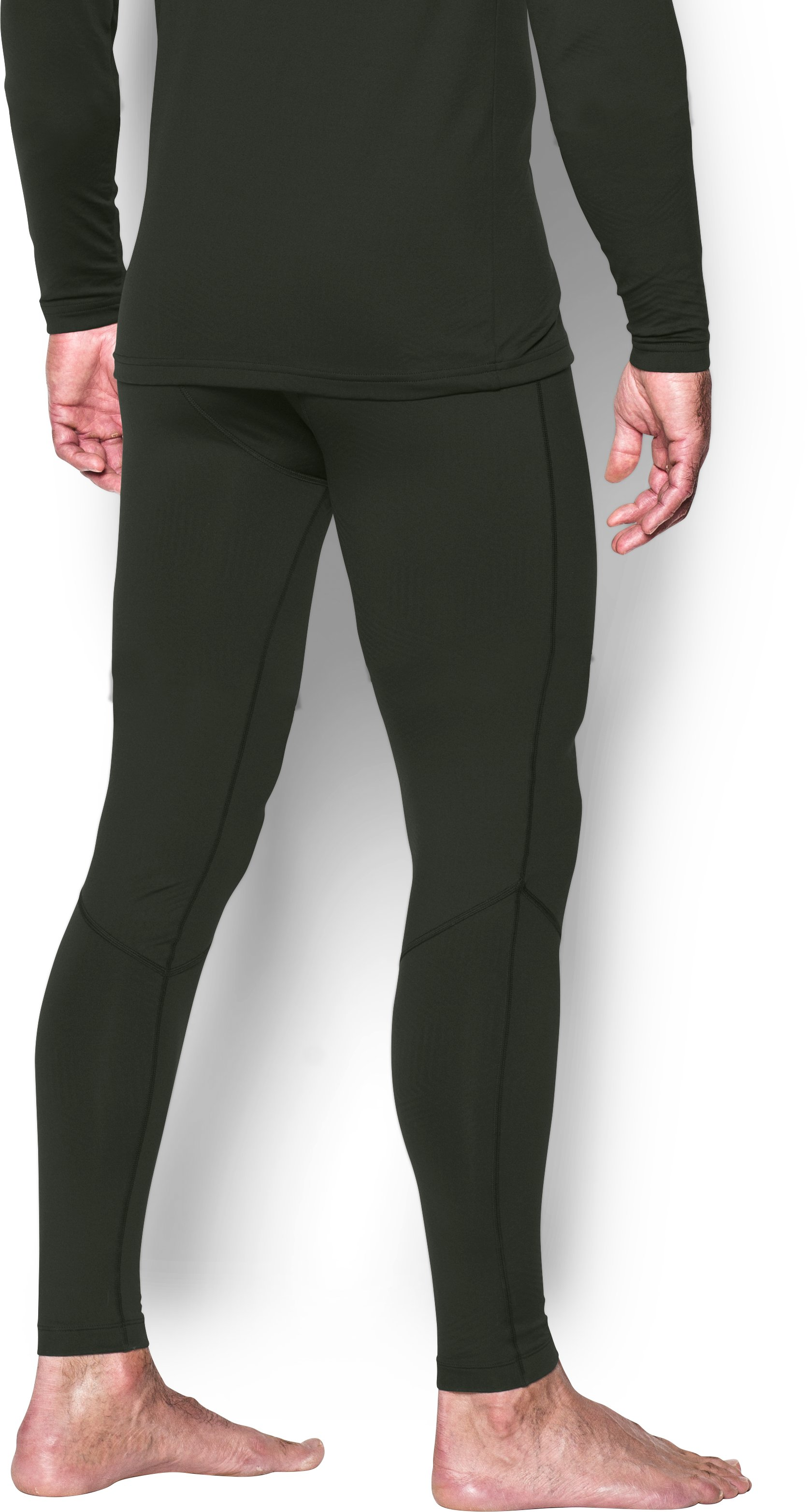 Men's UA ColdGear® Infrared Fitted Leggings, Artillery Green
