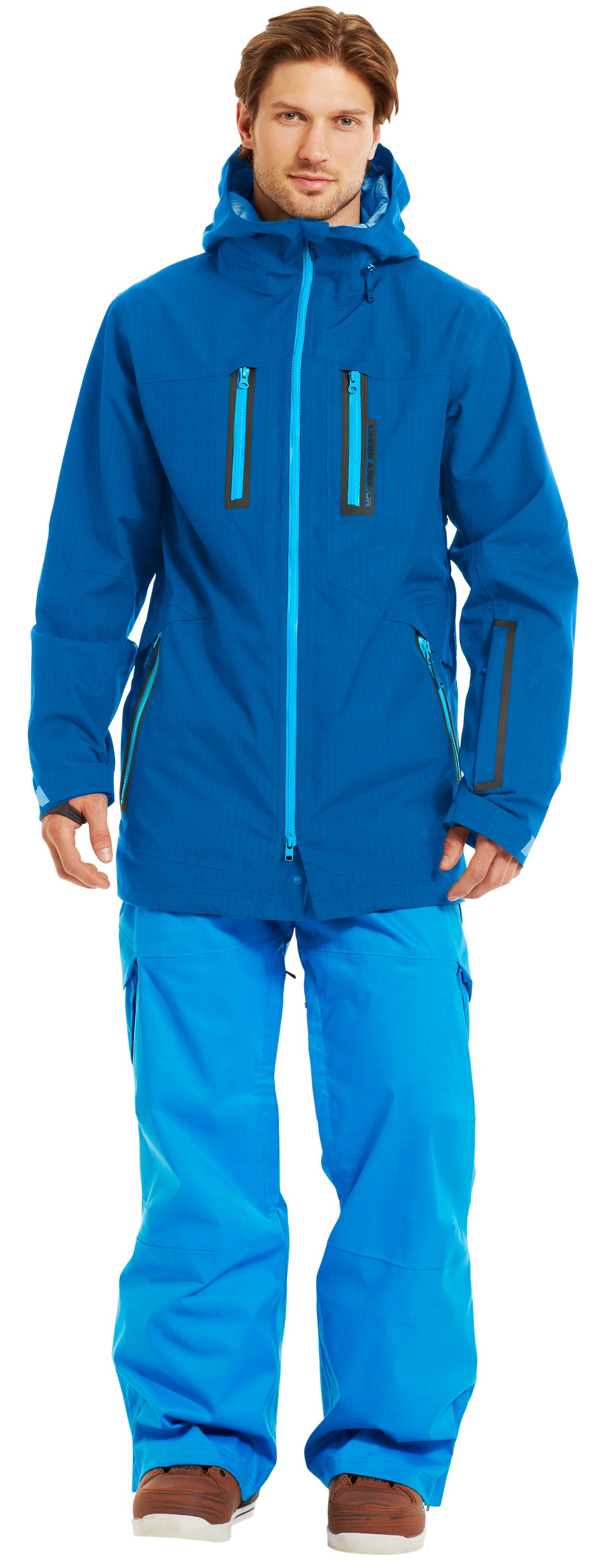 Men's ColdGear® Infrared Enyo Shell Jacket, SNORKEL, zoomed image
