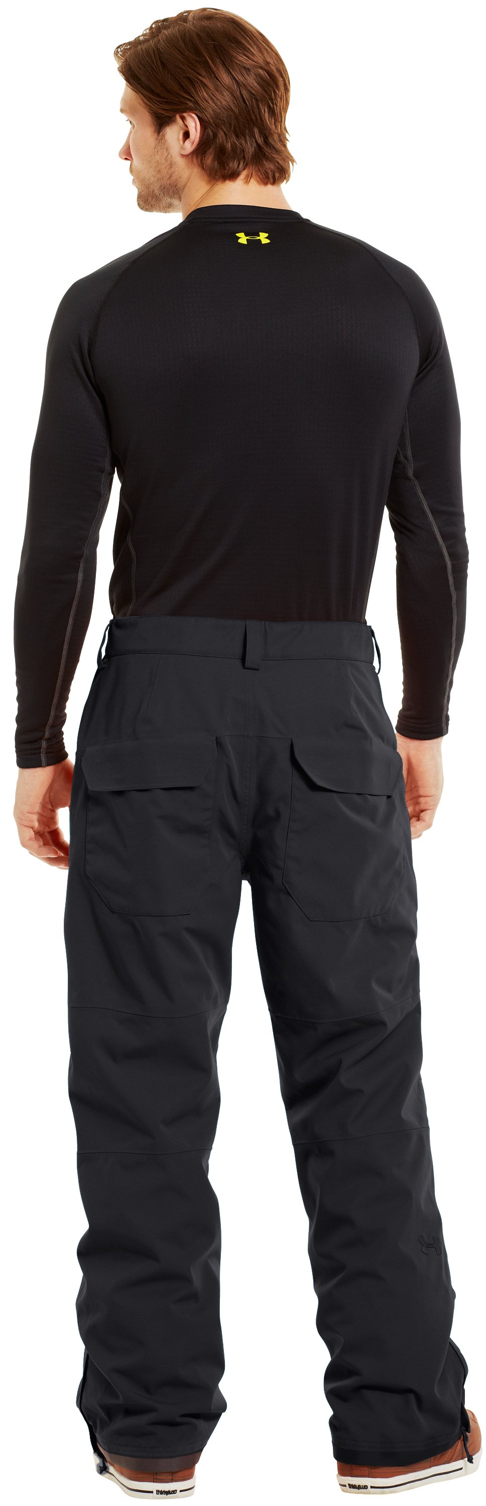 Men's ColdGear® Infrared Hatcher Pants, Black , Back