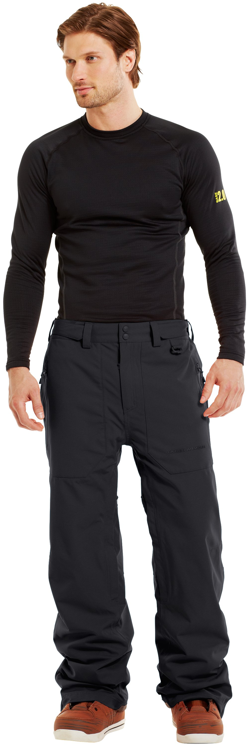 Men's ColdGear® Infrared Hatcher Pants, Black , Front
