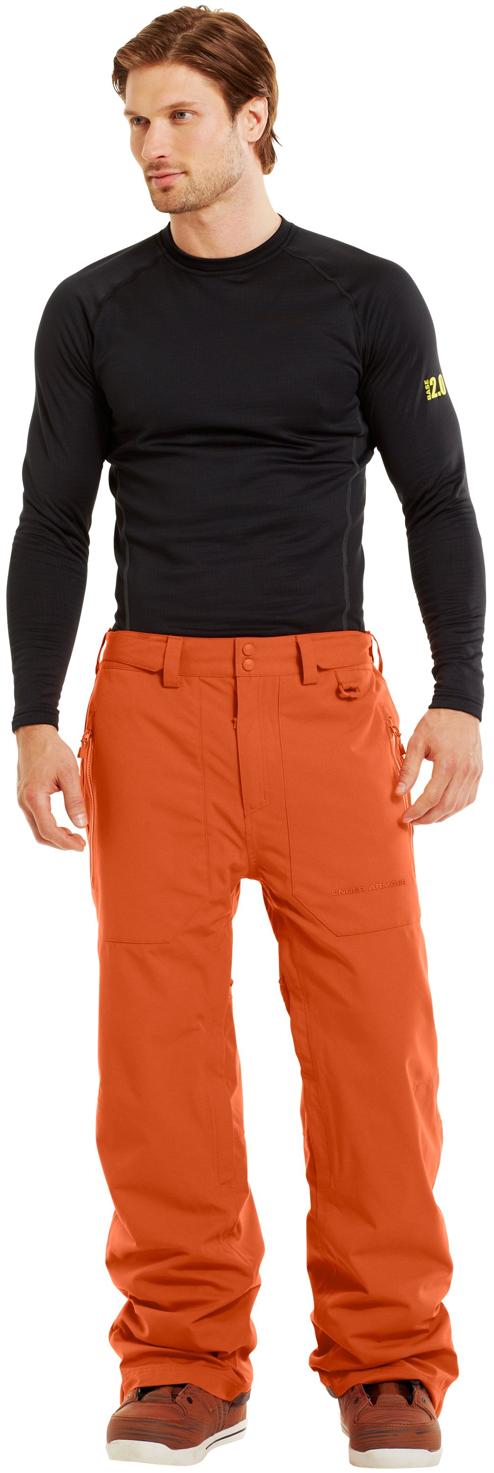 Men's ColdGear® Infrared Hatcher Pants, FLUX, Front