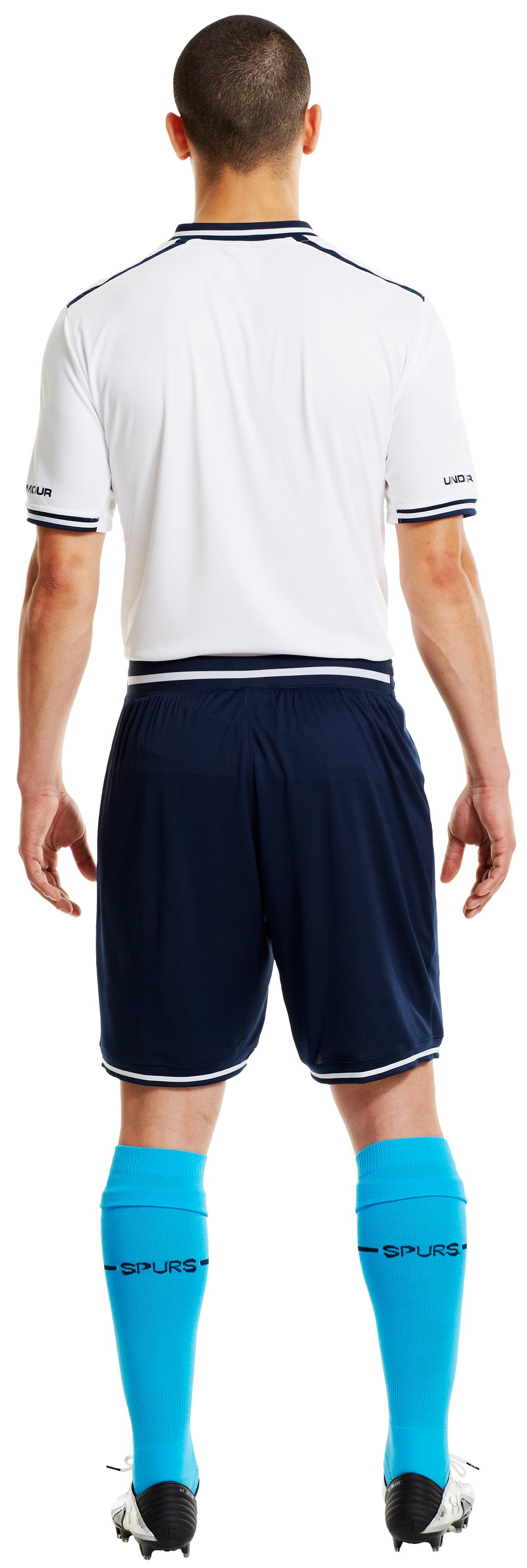 Men's Tottenham Hotspur 13/14 Home Shorts, White, Back