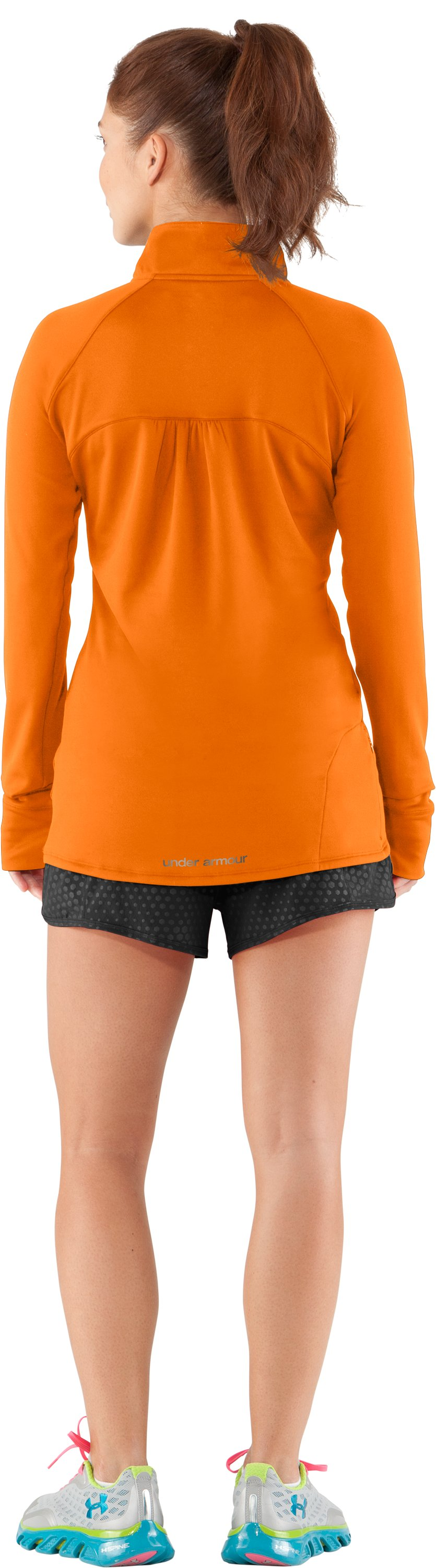 Women's UA Escape ¼ Zip III, Blaze Orange, Back
