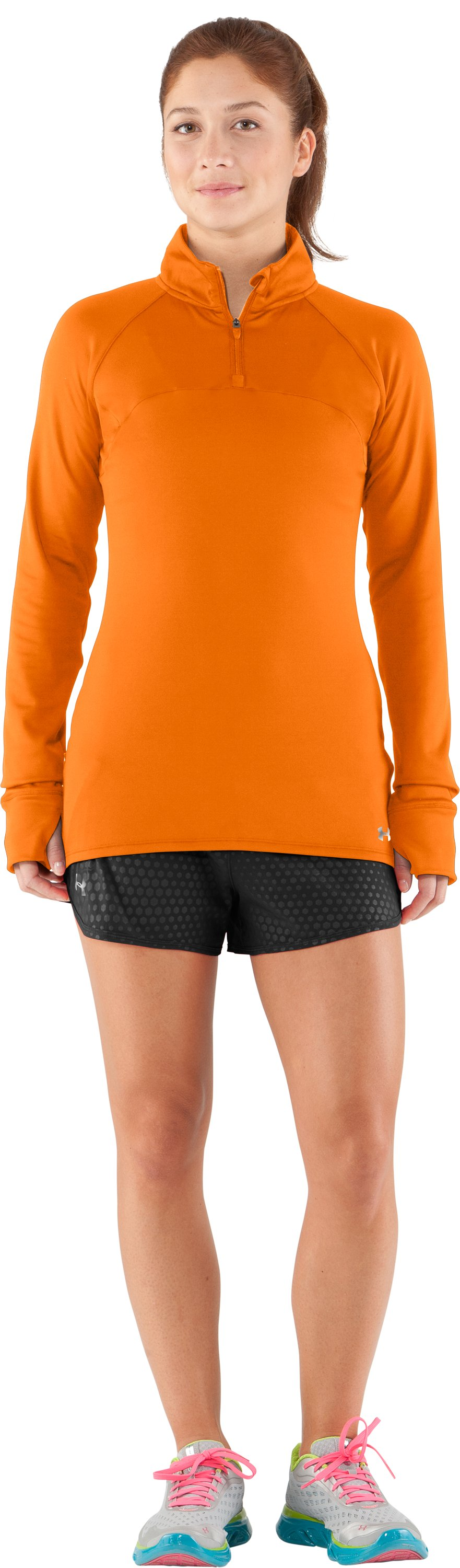 Women's UA Escape ¼ Zip III, Blaze Orange, zoomed image
