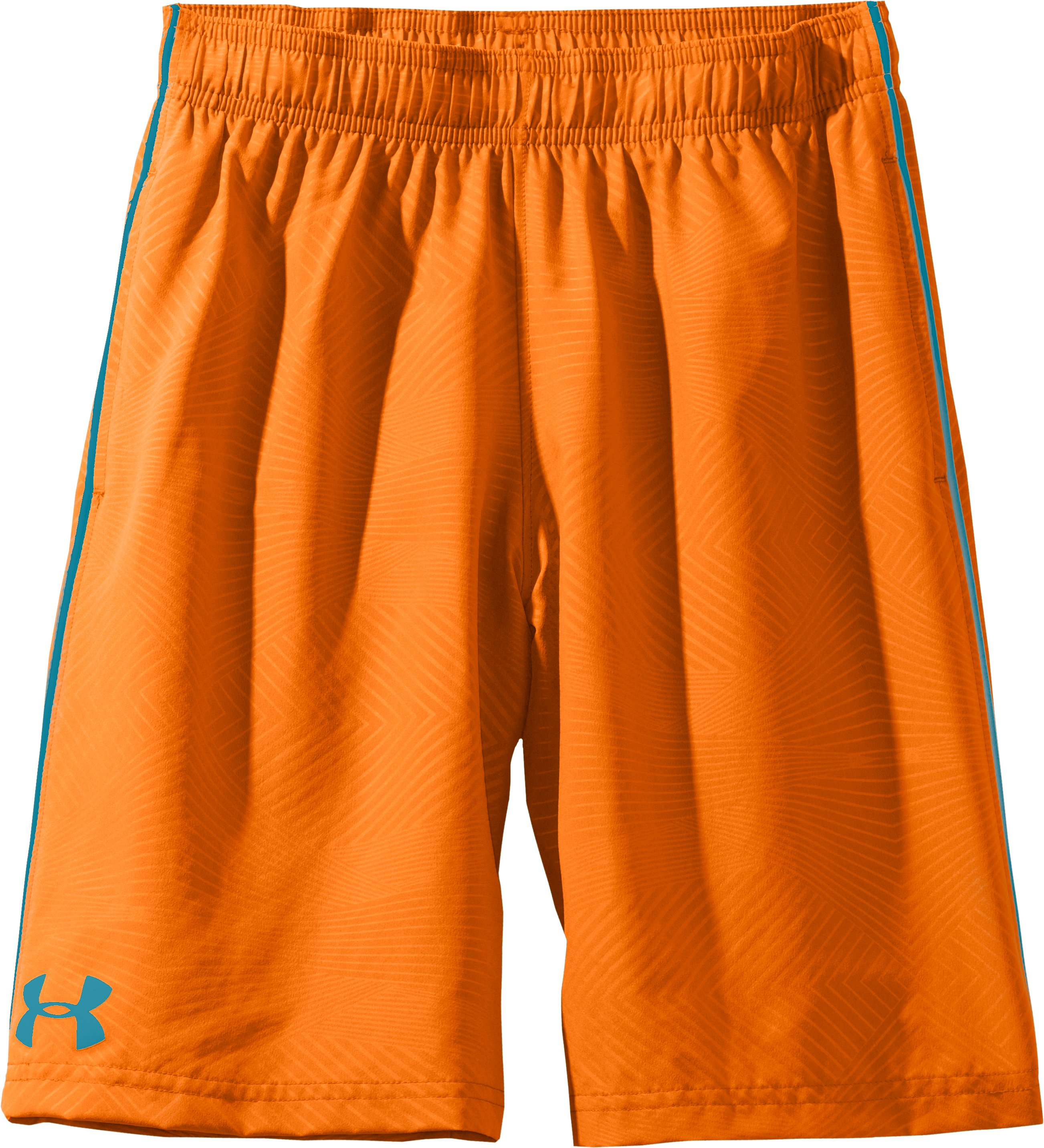 Boys' UA Ripping Shorts, Blaze Orange, Laydown