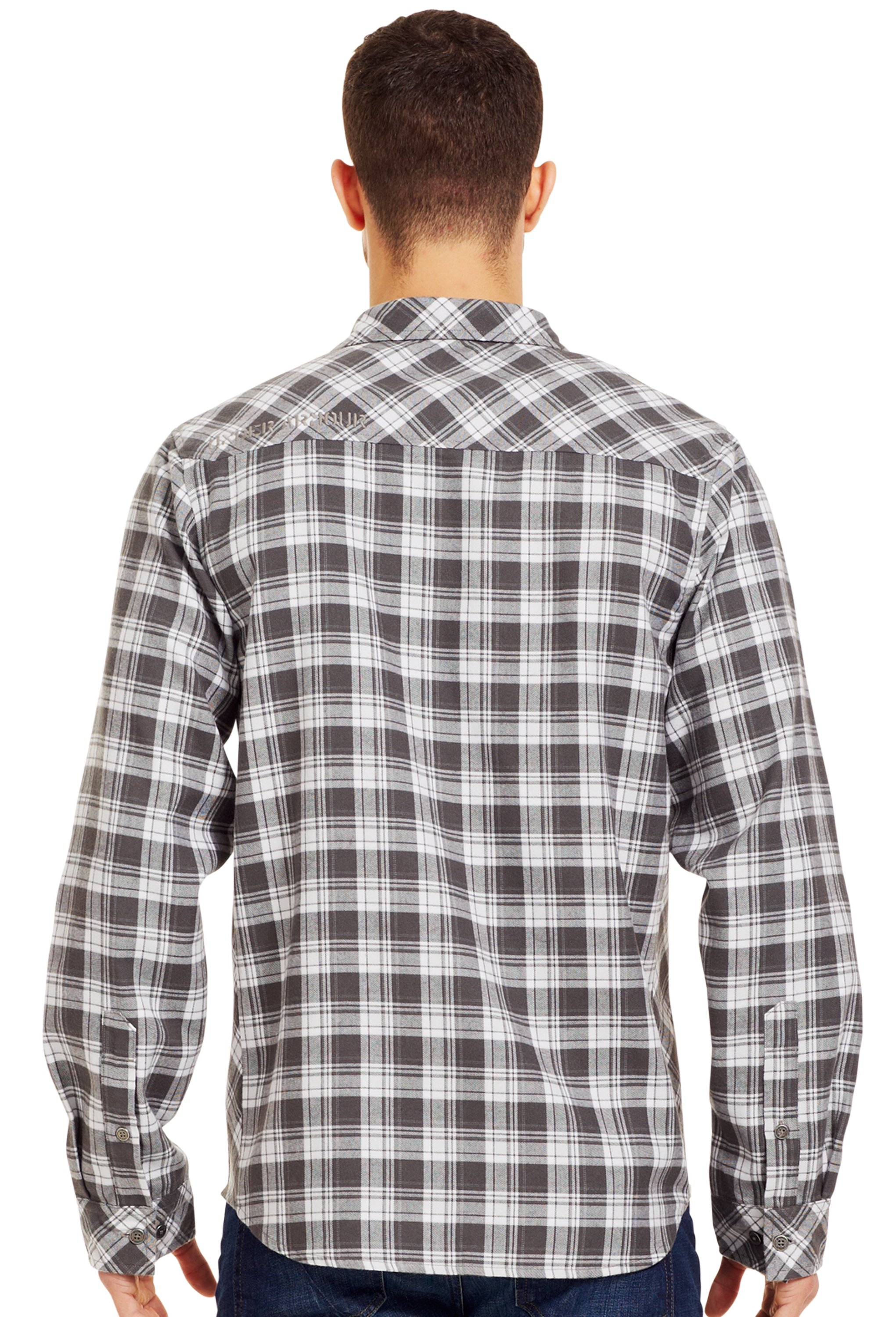 Men's UA Carthage Flannel, Battleship, Back