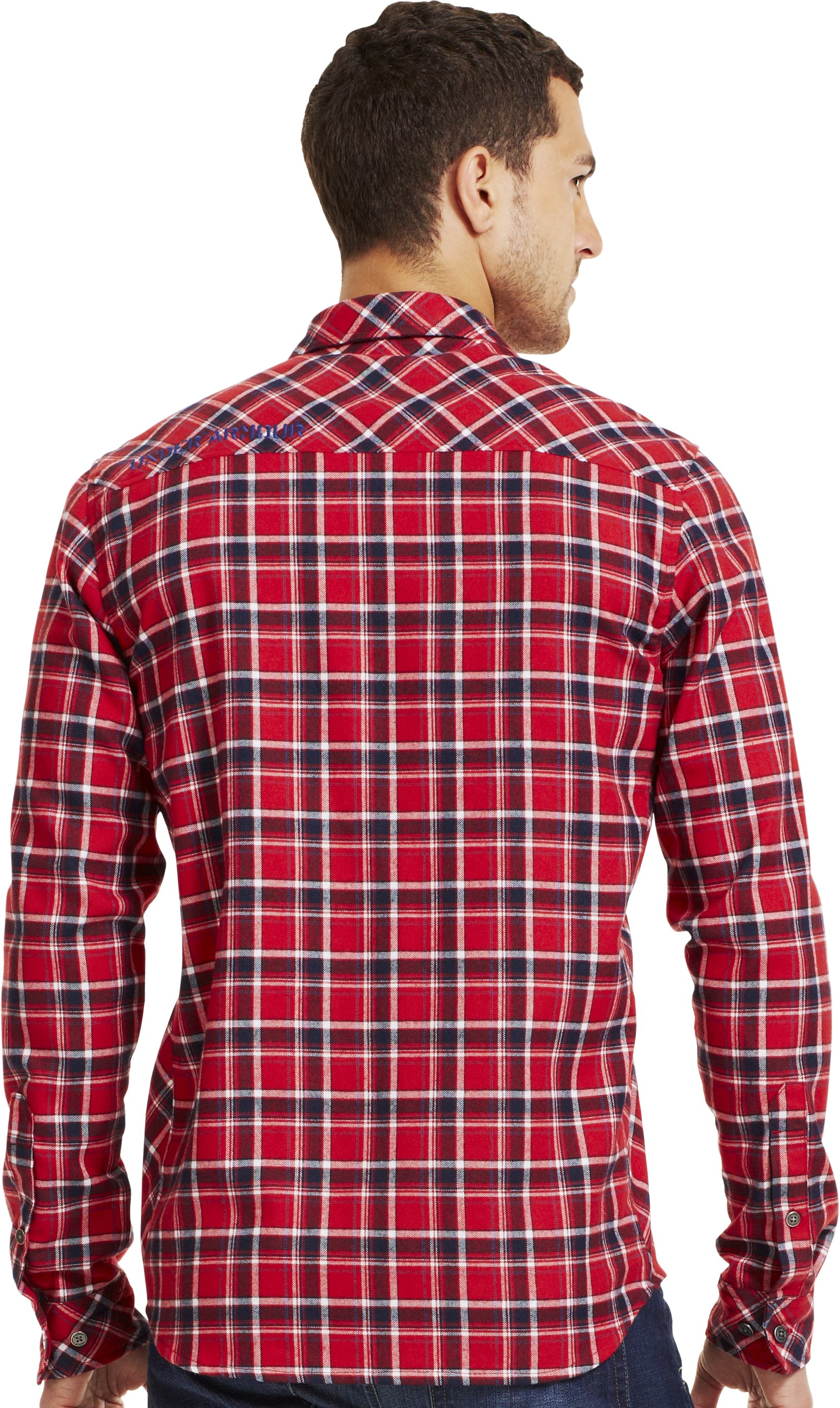 Men's UA Carthage Flannel, Fraternity, Back