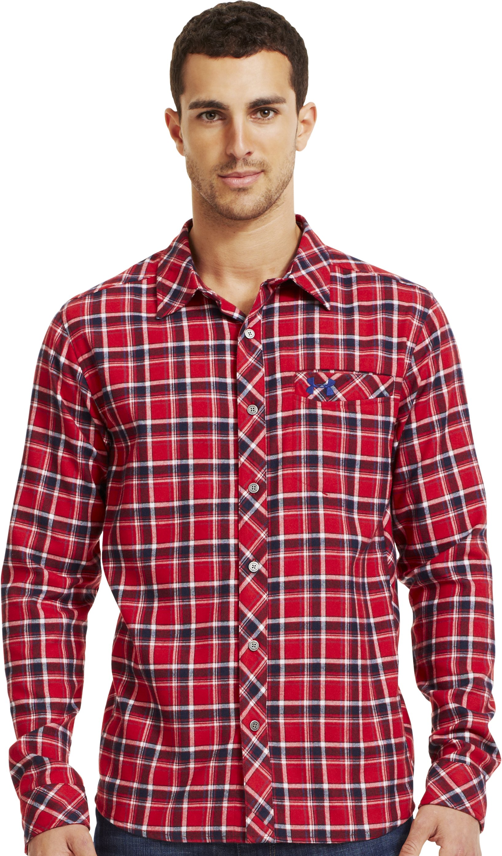 Men's UA Carthage Flannel, Fraternity, Front
