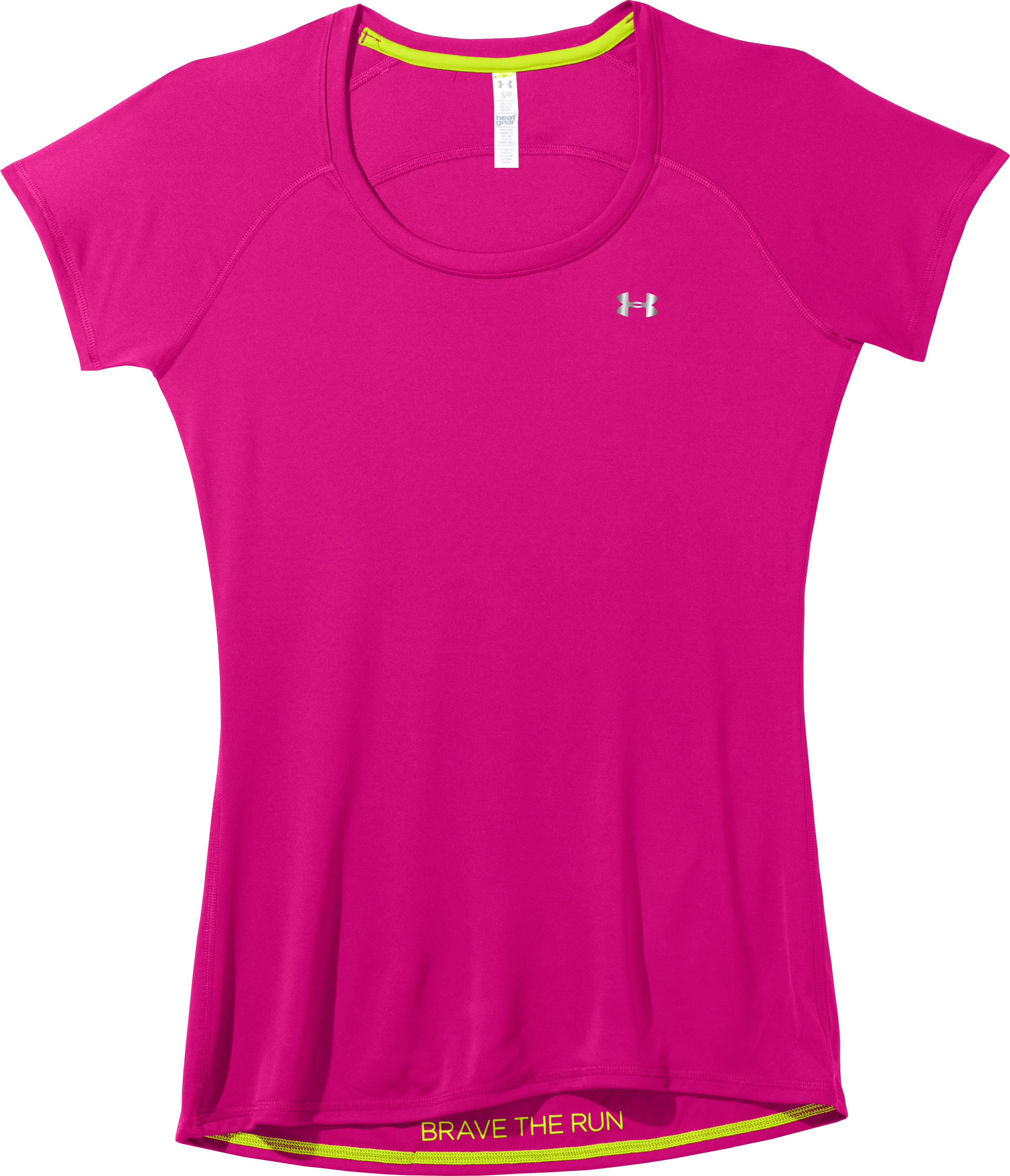 Women's UA Catalyst Short Sleeve, Wild, Laydown