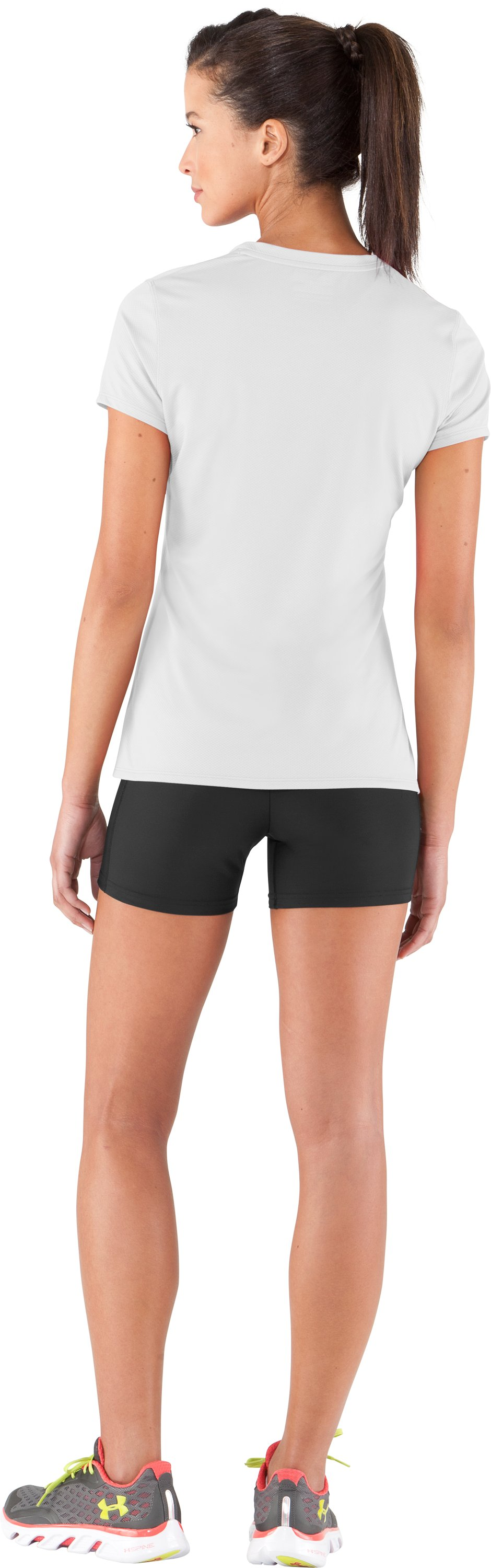 Women's UA Authentic T-Shirt, White, Back