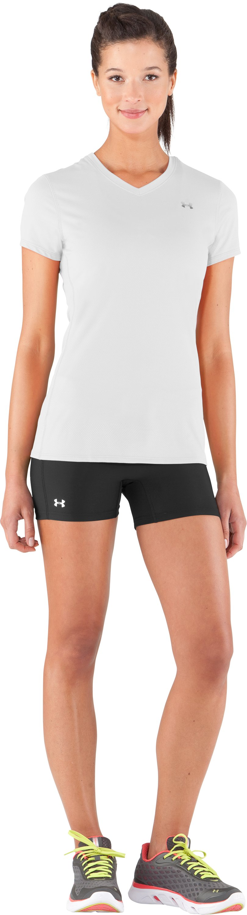 Women's UA Authentic T-Shirt, White, Front