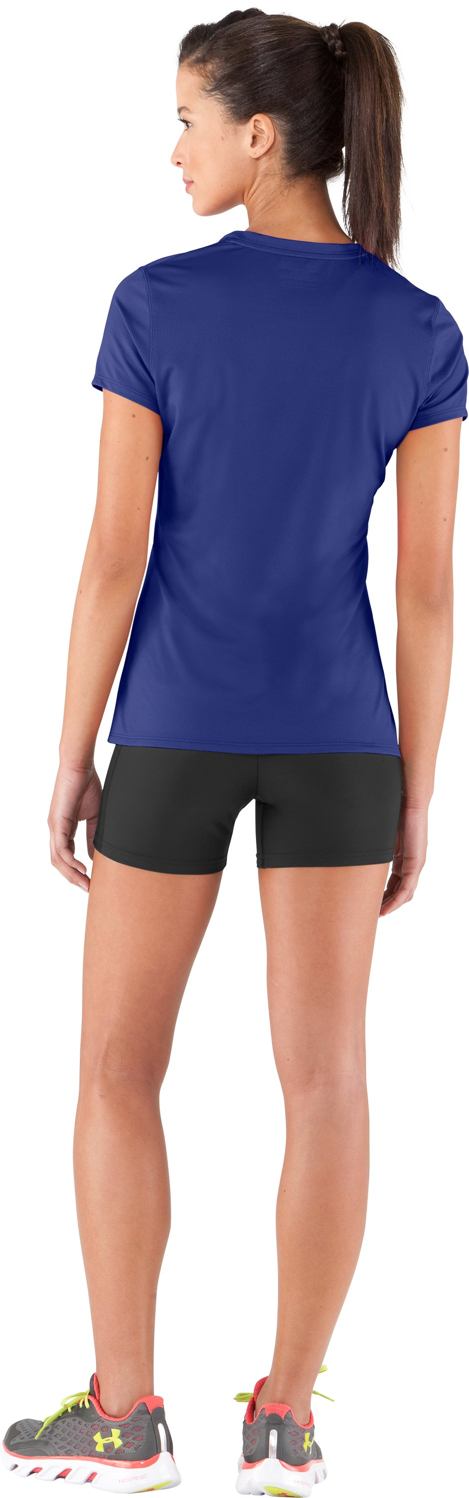 Women's UA Authentic T-Shirt, Royal, Back