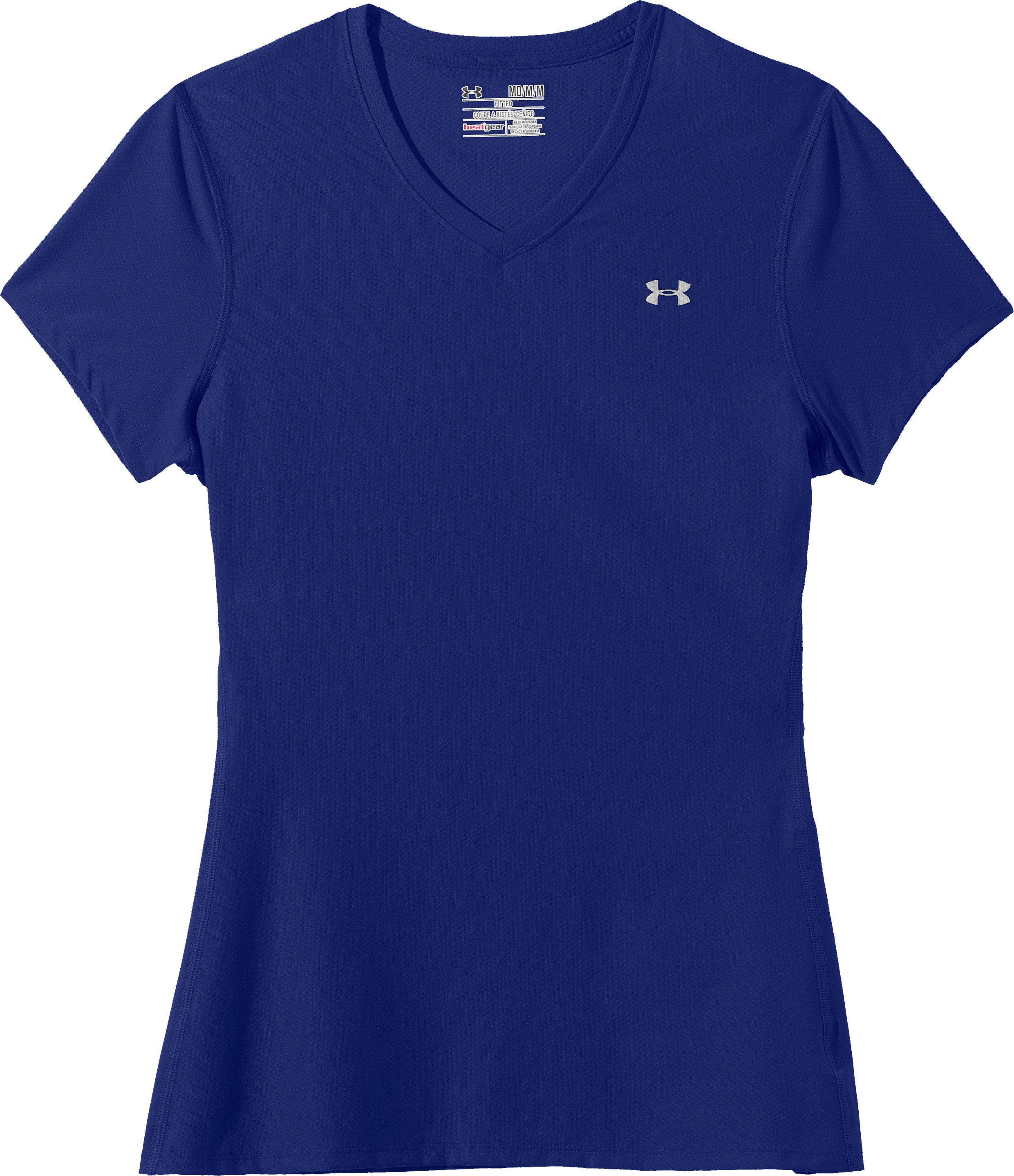 Women's UA Authentic T-Shirt, Royal, Laydown