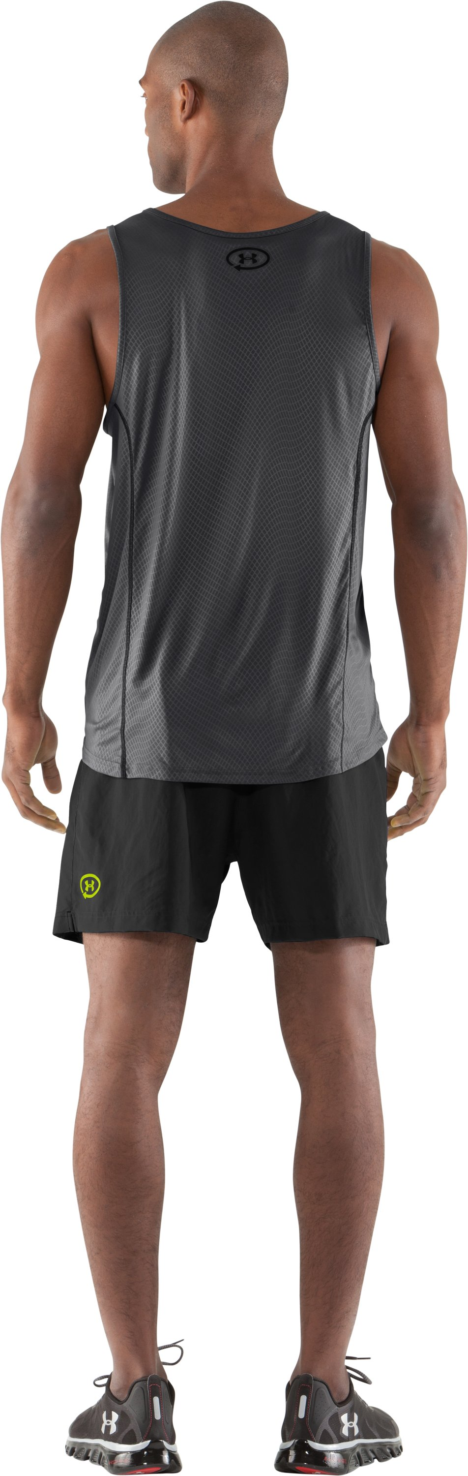 "Men's UA Anatomix Run 5"" Shorts, Black , Back"