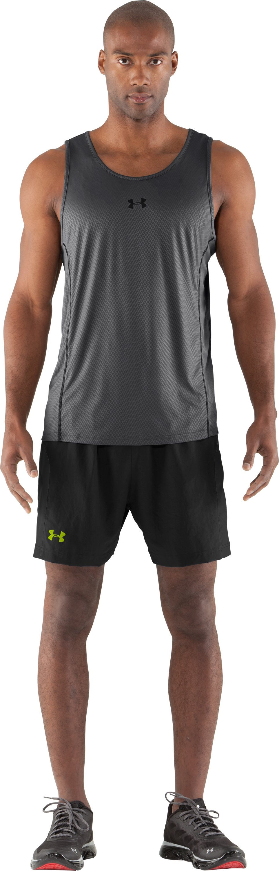"Men's UA Anatomix Run 5"" Shorts, Black , Front"