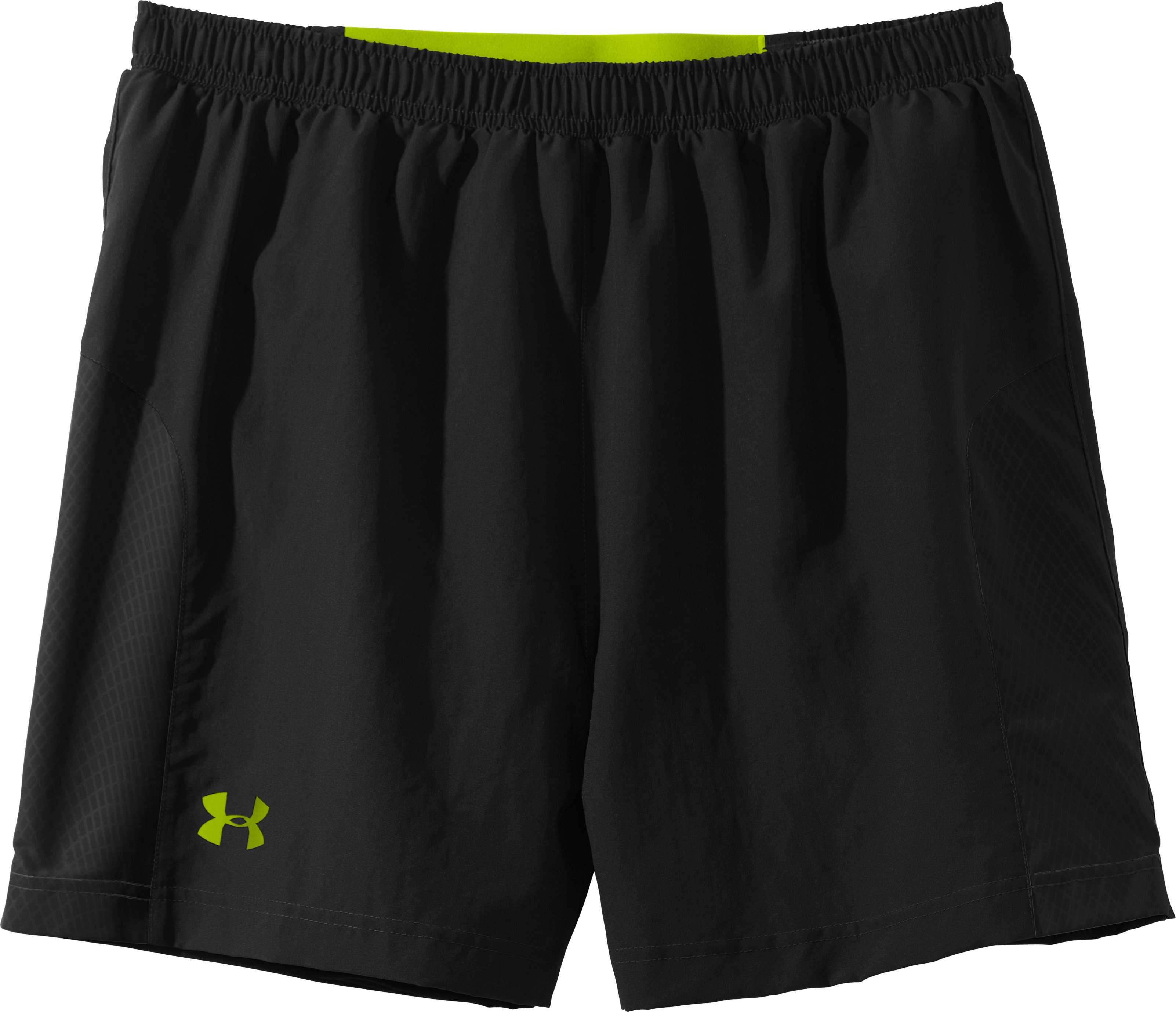 "Men's UA Anatomix Run 5"" Shorts, Black , Laydown"