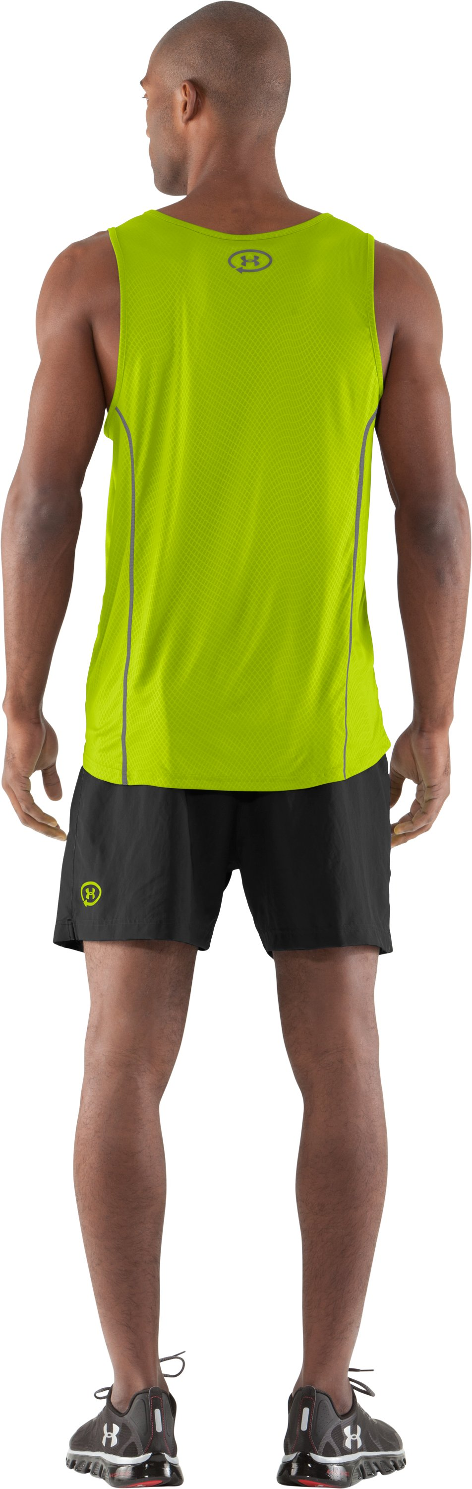 Men's UA Anatomix Run Singlet, Velocity, Back