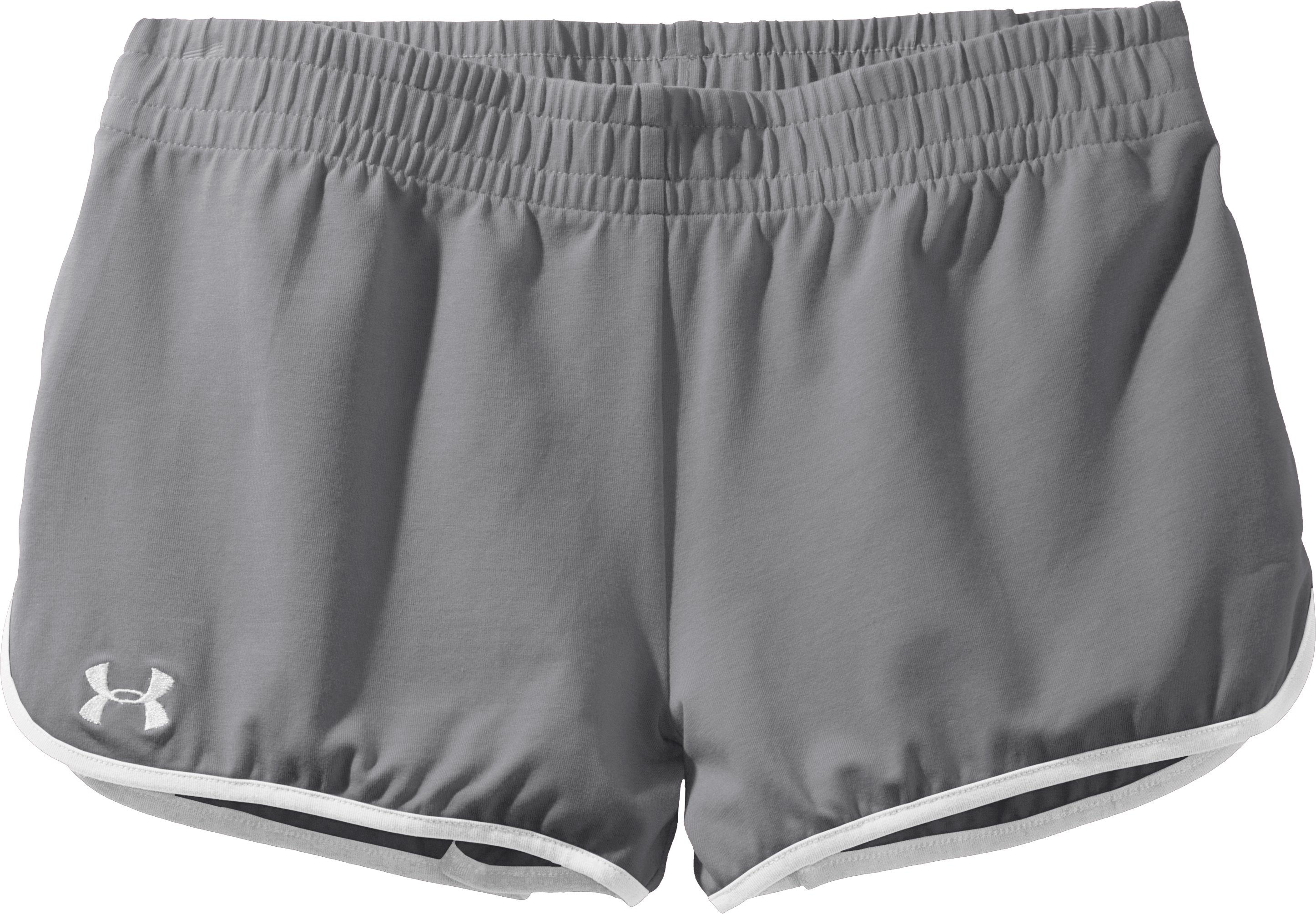 Women's UA Tidal Cotton Shorty, Graphite, Laydown