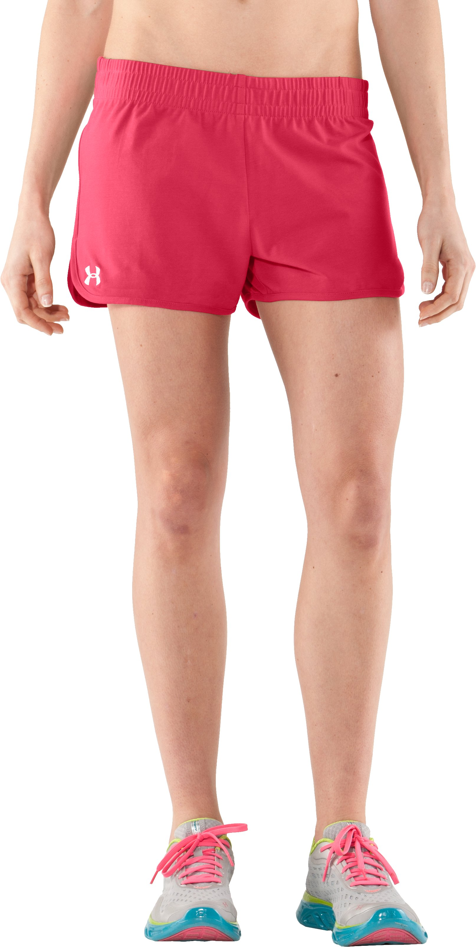 Women's UA Tidal Cotton Shorty, Hibiscus