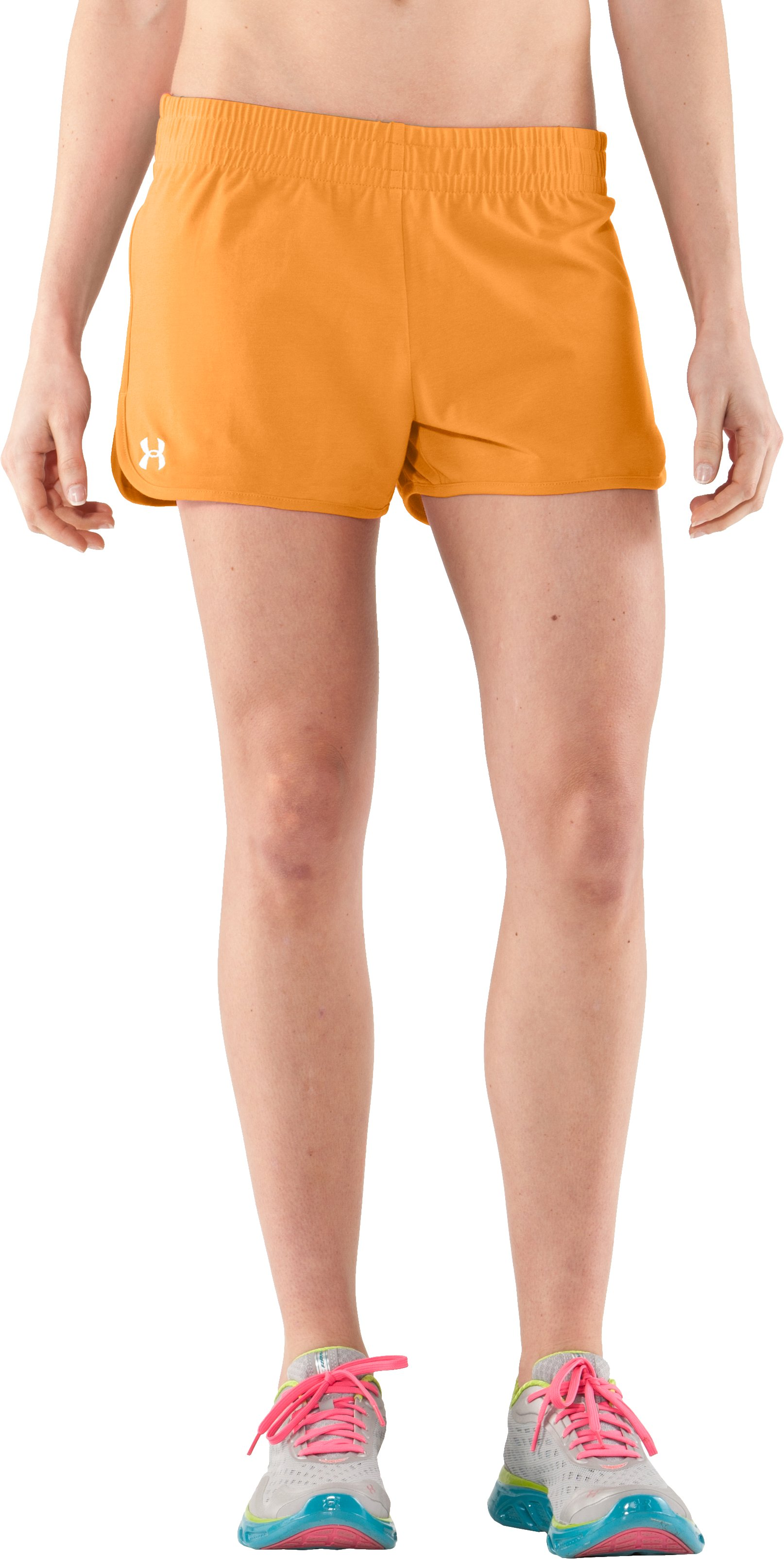 Women's UA Tidal Cotton Shorty, Shine, zoomed image