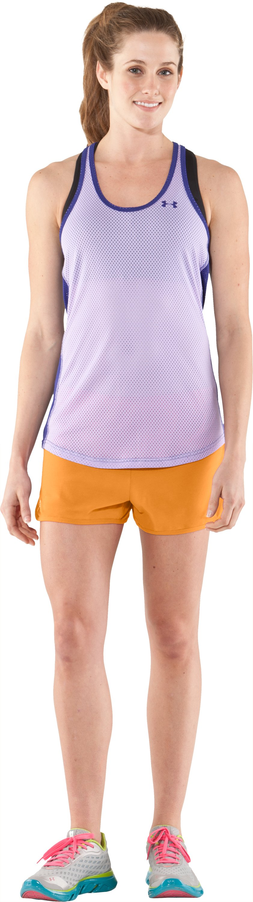 Women's UA Tidal Cotton Shorty, Shine, Front