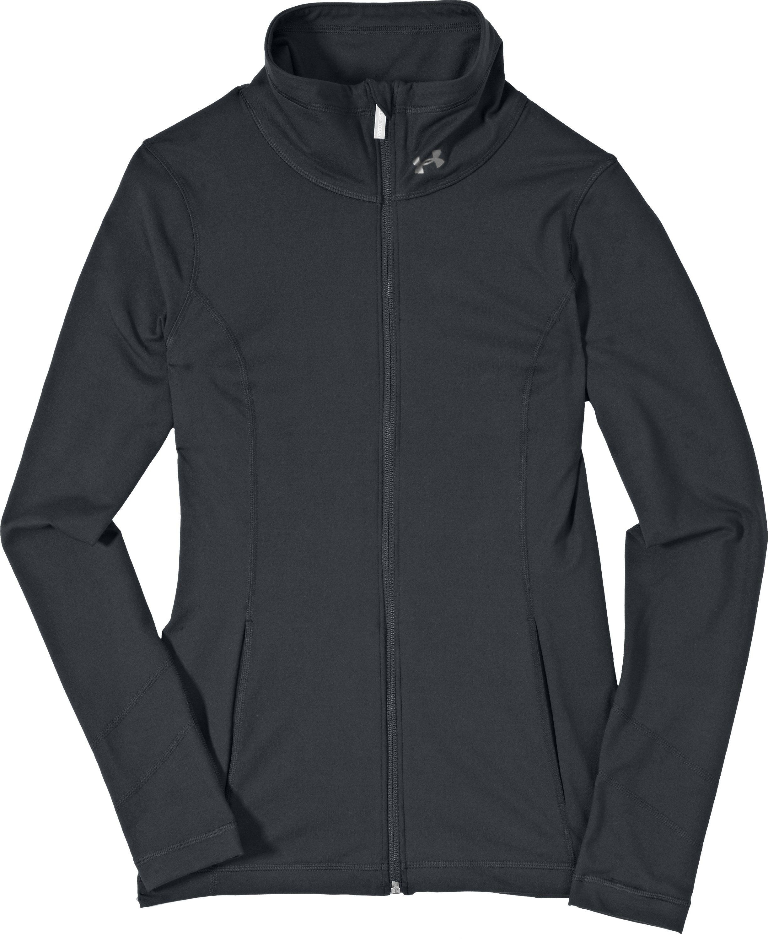 Women's UA Perfect Jacket, ANTHRACITE, Laydown