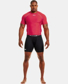 "Men's HeatGear® Dynasty Vented 6"" Compression Shorts  1 Color $17.99"