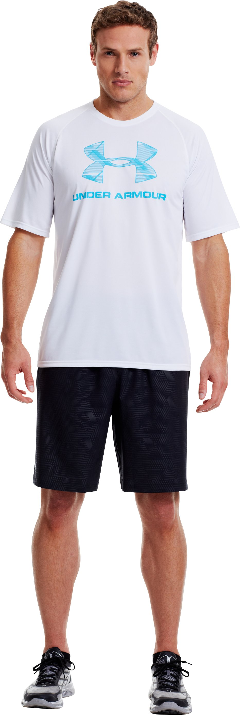 Men's UA Static-V Logo T-Shirt, White, Front