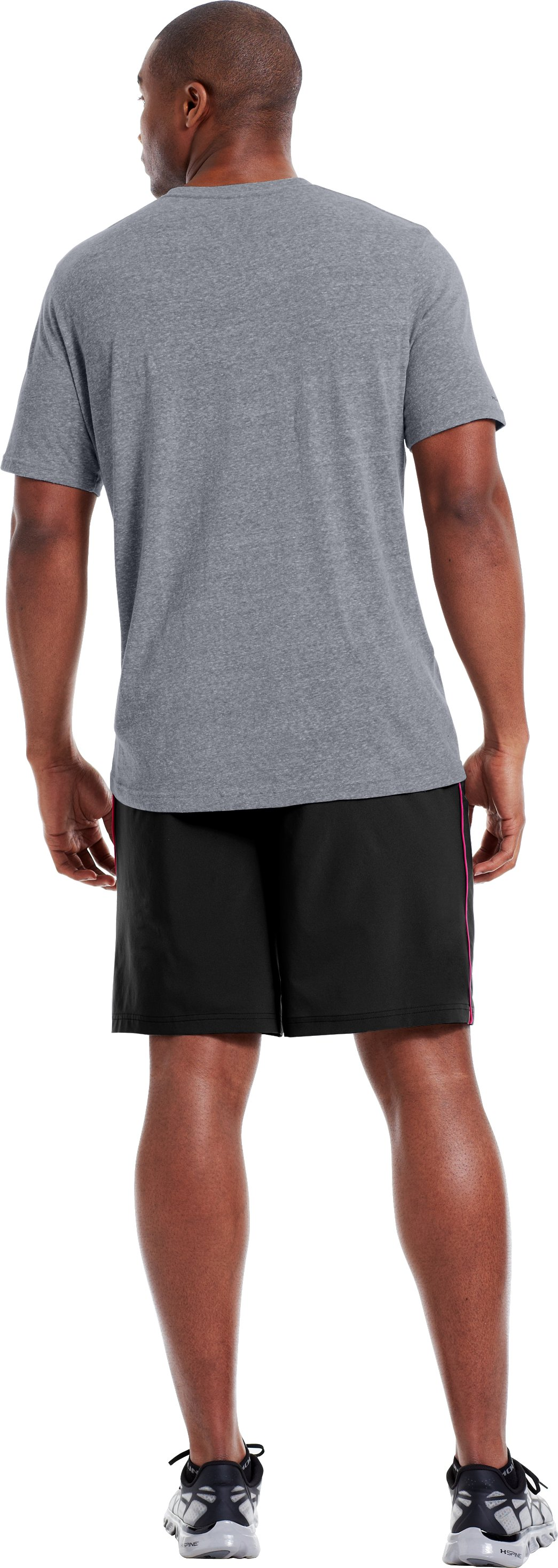 Men's UA Trainer Legacy T-Shirt, Steel, Back