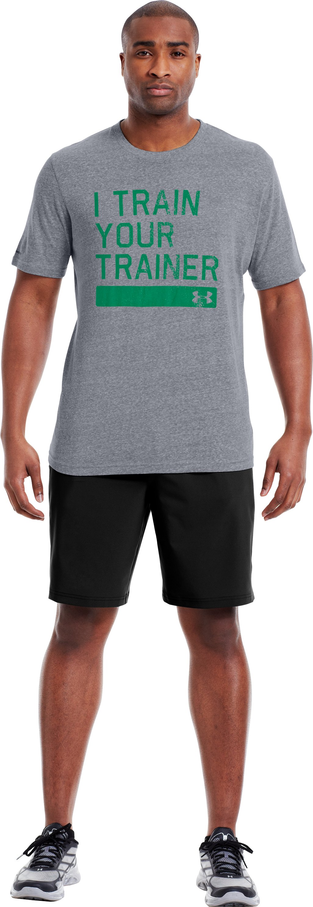 Men's UA Trainer Legacy T-Shirt, Steel, Front