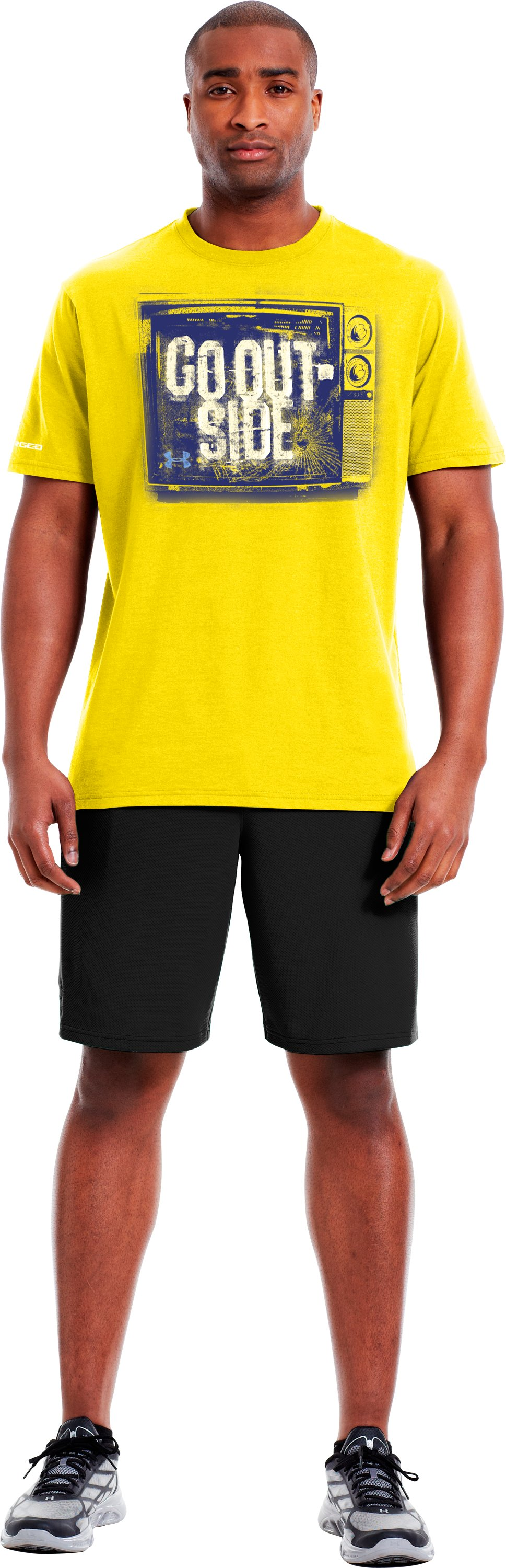 Men's UA Outside T-Shirt, Solar, Front