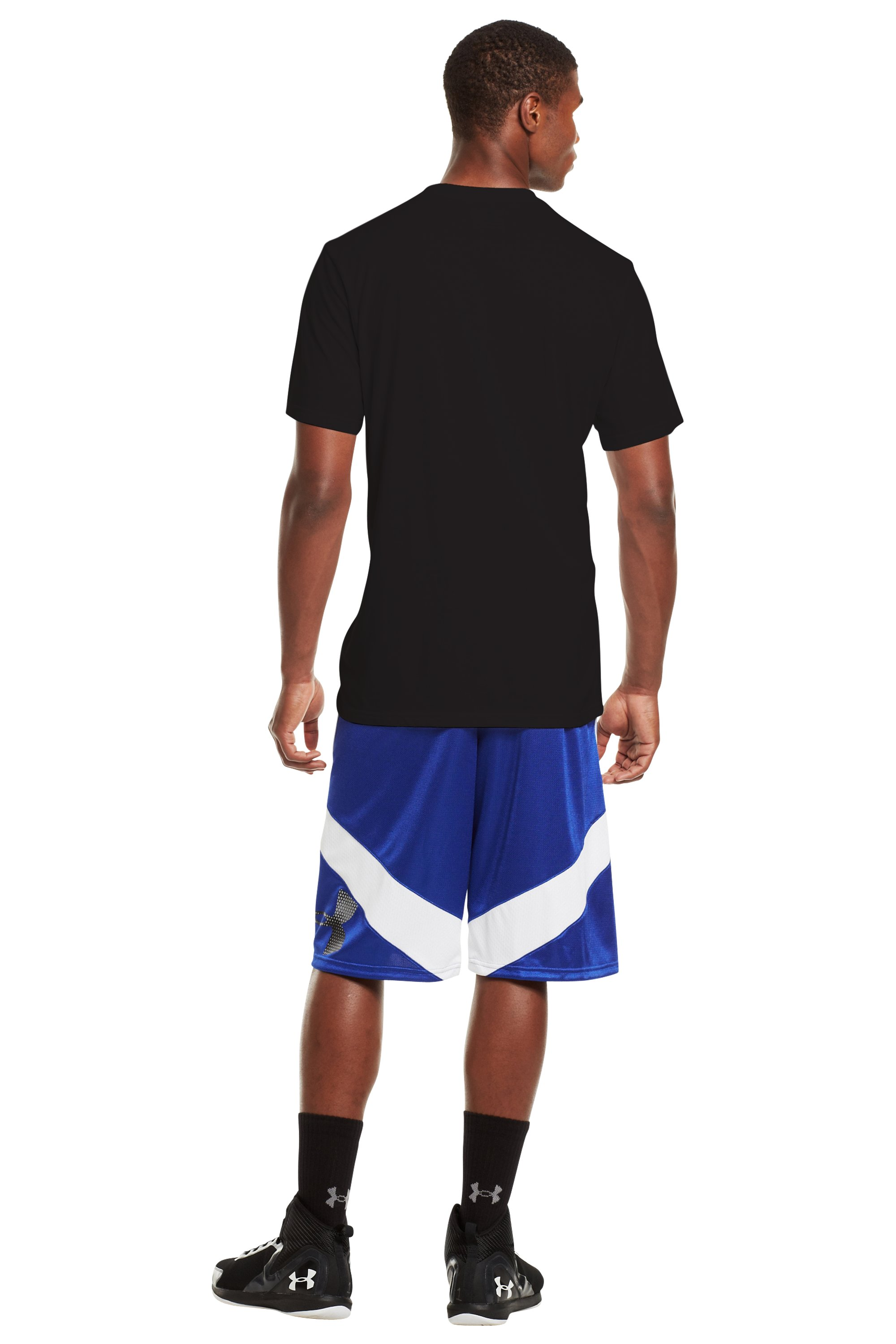 Men's UA Basketball T-Shirt, Black , Back