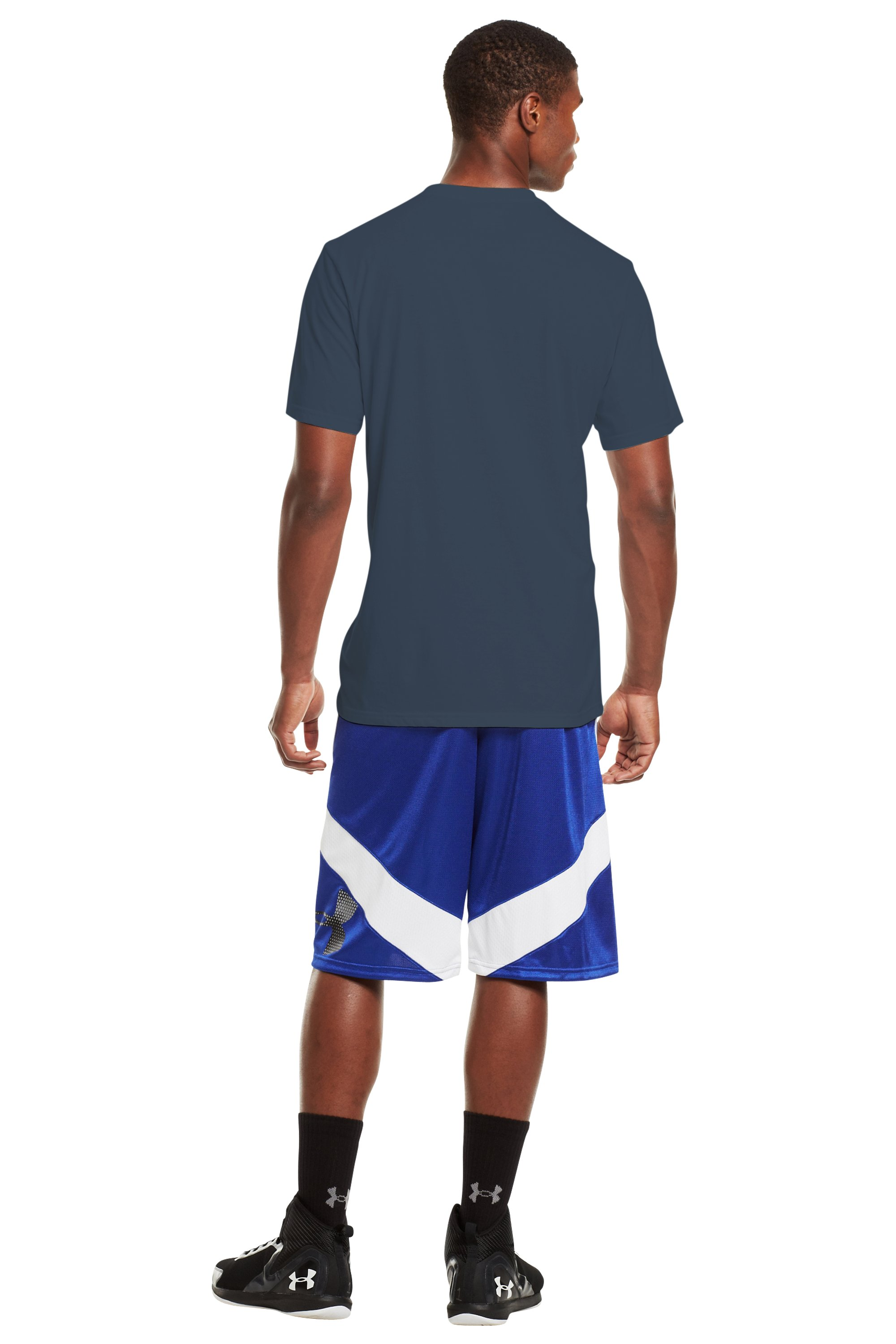 Men's UA Basketball T-Shirt, Wire, Back